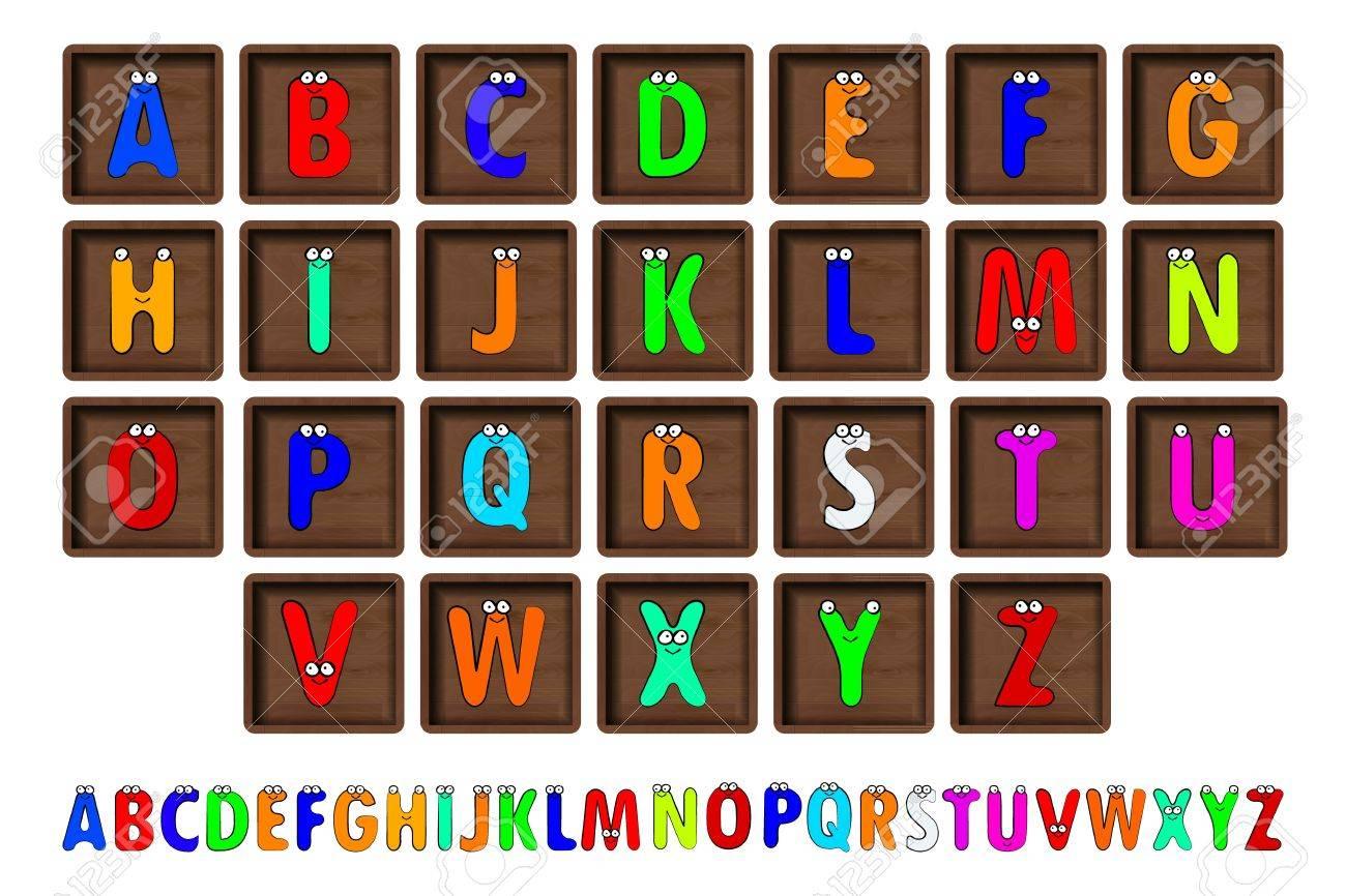 Blocs De Lettres Illustration Vectorielle Meme Vue 26 Lettres D