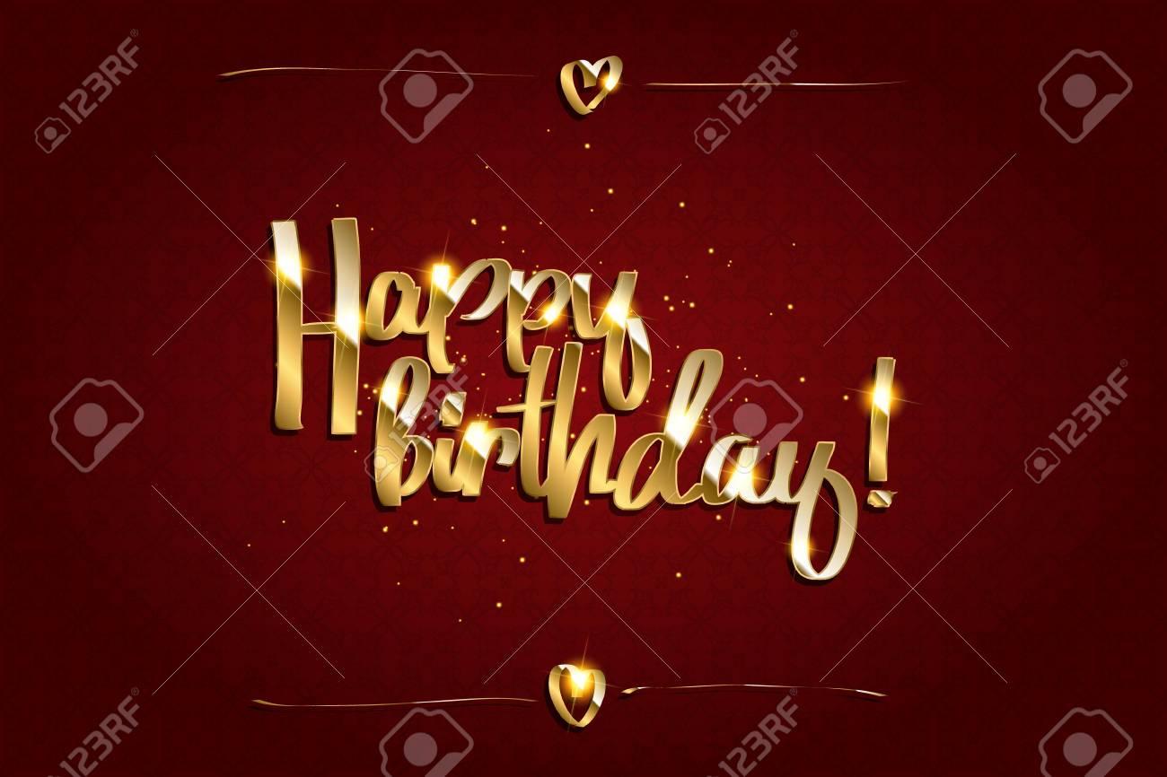 Gold Funkelt Hintergrund Alles Gute Zum Geburtstag Alles Gute Zum
