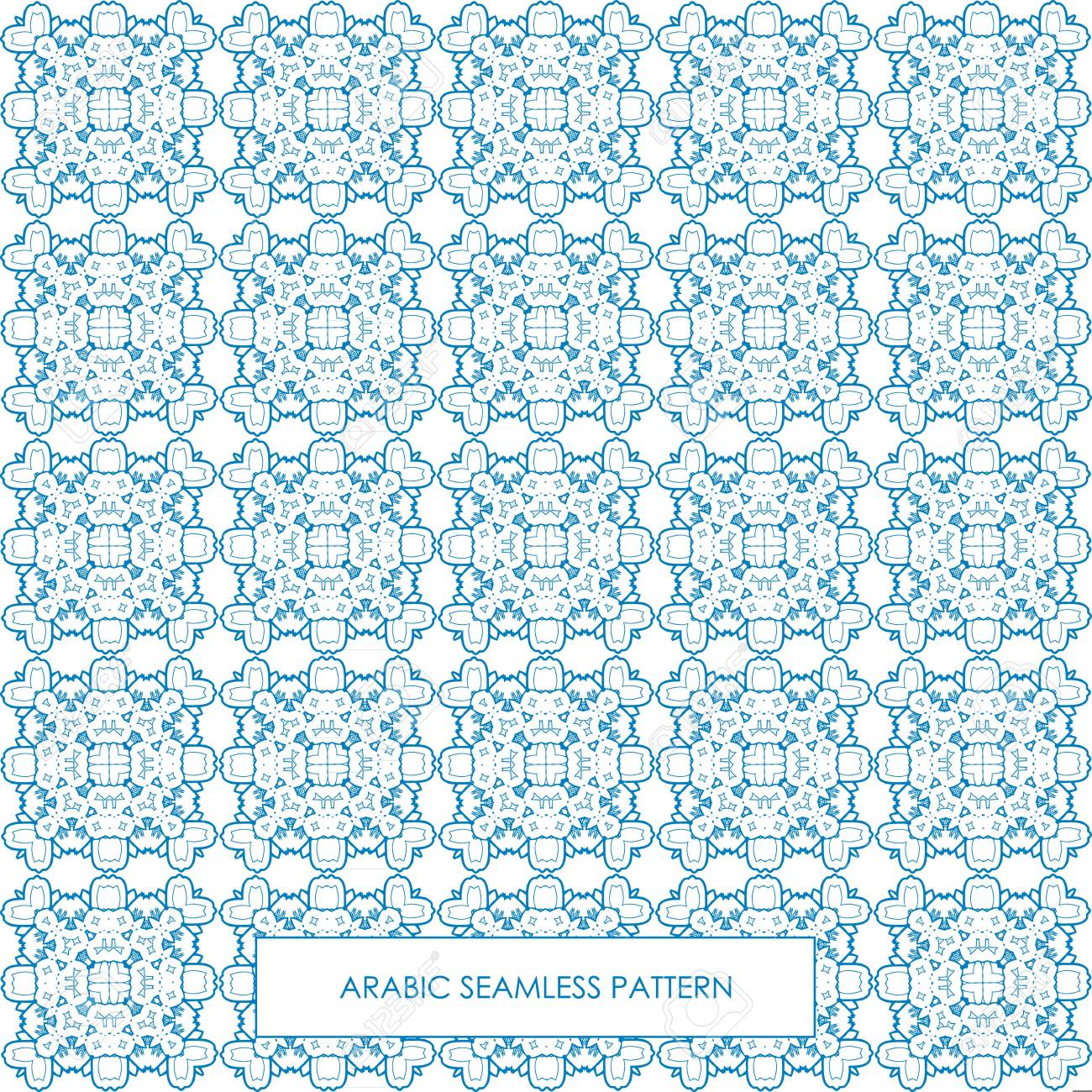 Modern Line Vector Traditional Arabic Pattern Background Design ...