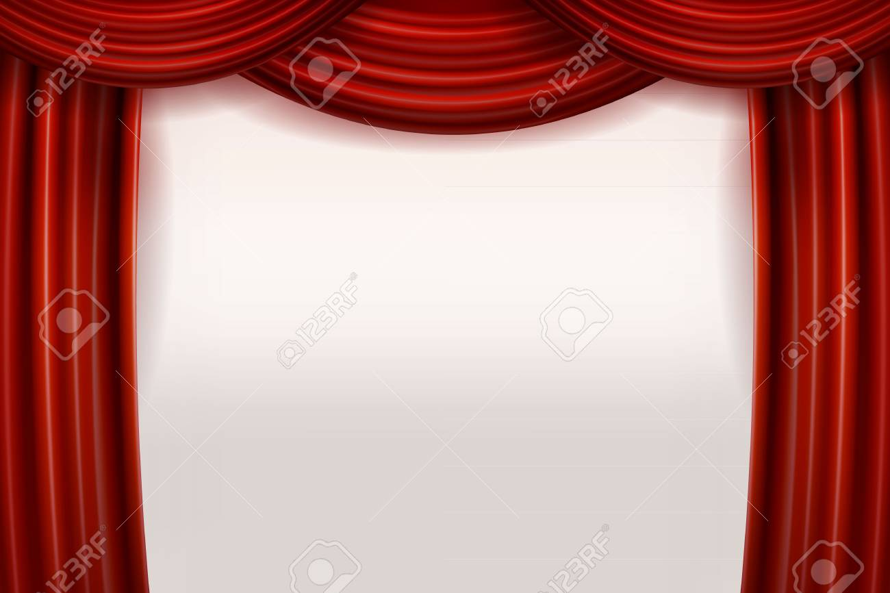 stage curtain drapes velvet theater grunge curtains collection clipart clip with art red