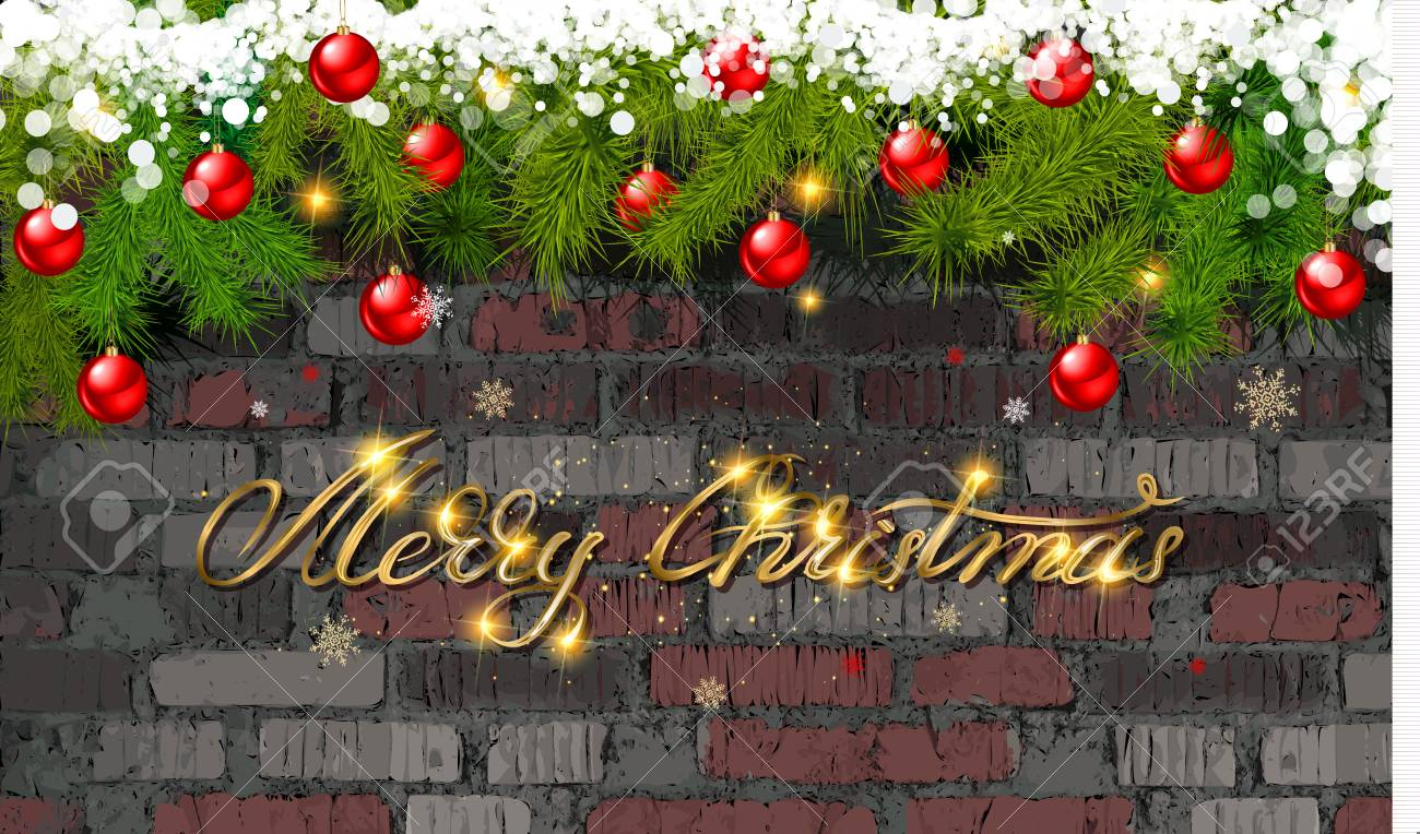 Merry Christmas Images 2020.Merry Christmas And Happy New Year 2020 In Gold Lettering Against