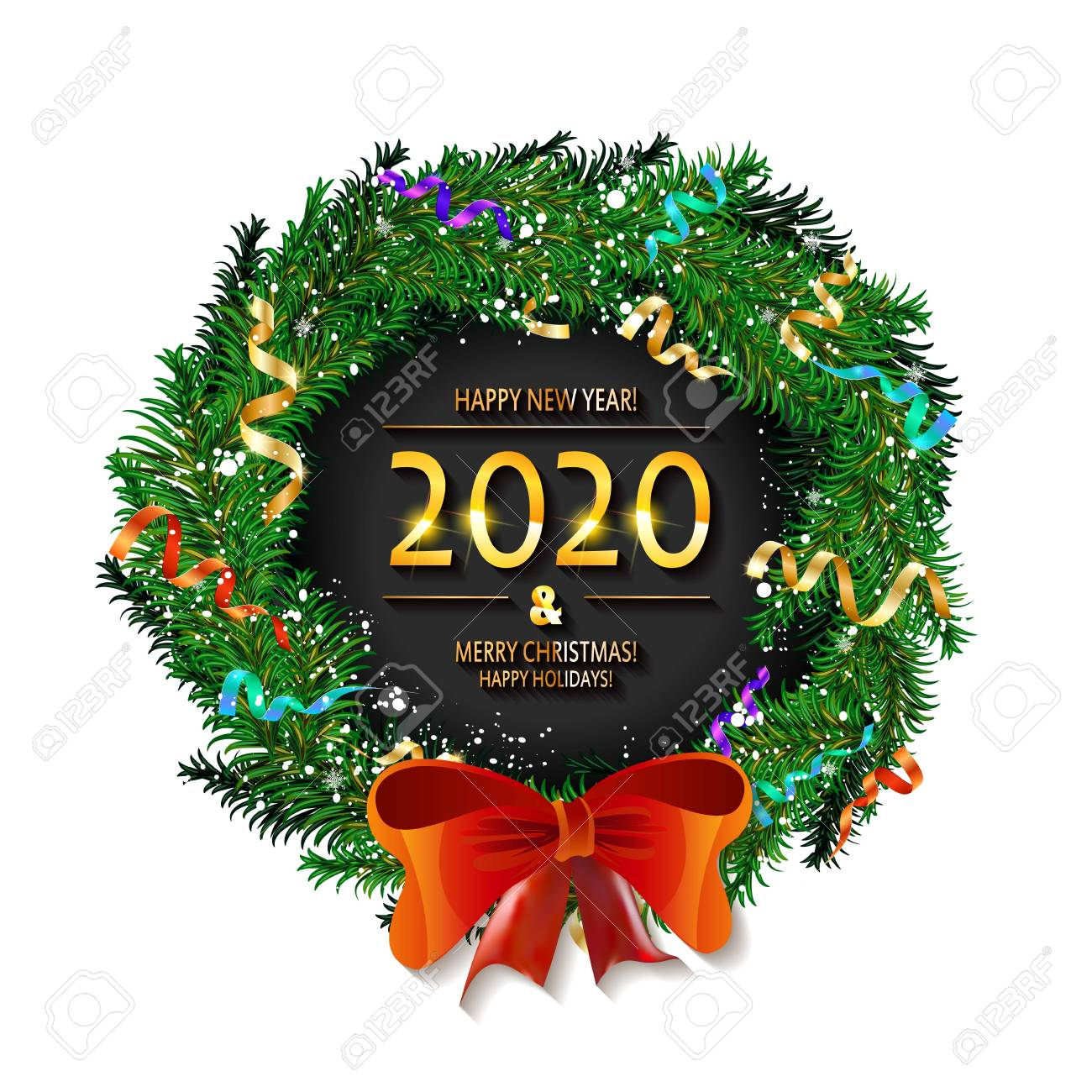 Merry Christmas Images 2020.Merry Christmas And Happy New Year 2020 Background Christmas
