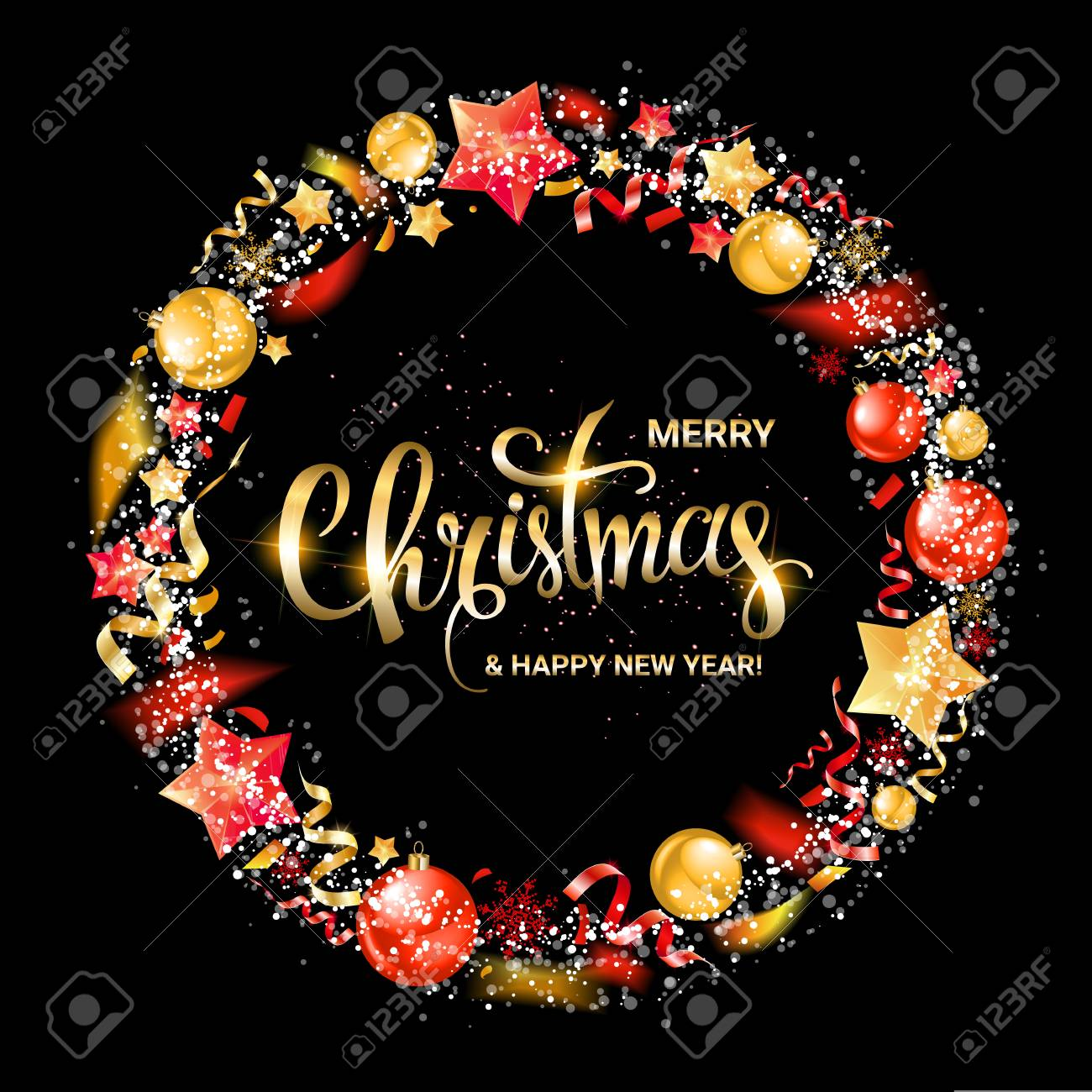 2020 Wish For Merry Christmas Merry Christmas And New Year 2020 Wish Greeting Card Lettering