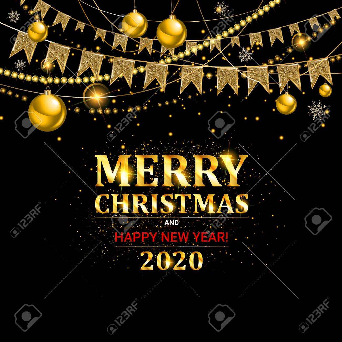 Invitation Merry Christmas Party And Happy New Year 2020 Poster