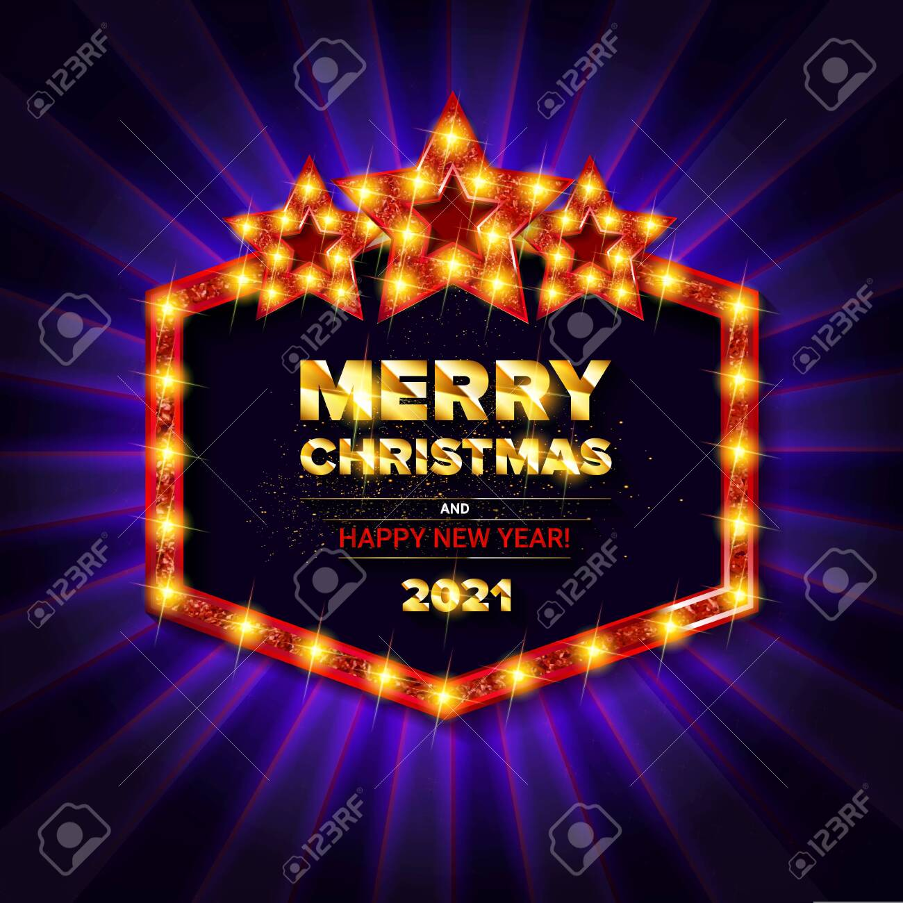 Christmas Party Near Me 2021 Invitation Merry Christmas Party 2021 Poster Banner And Card Royalty Free Cliparts Vectors And Stock Illustration Image 144603398