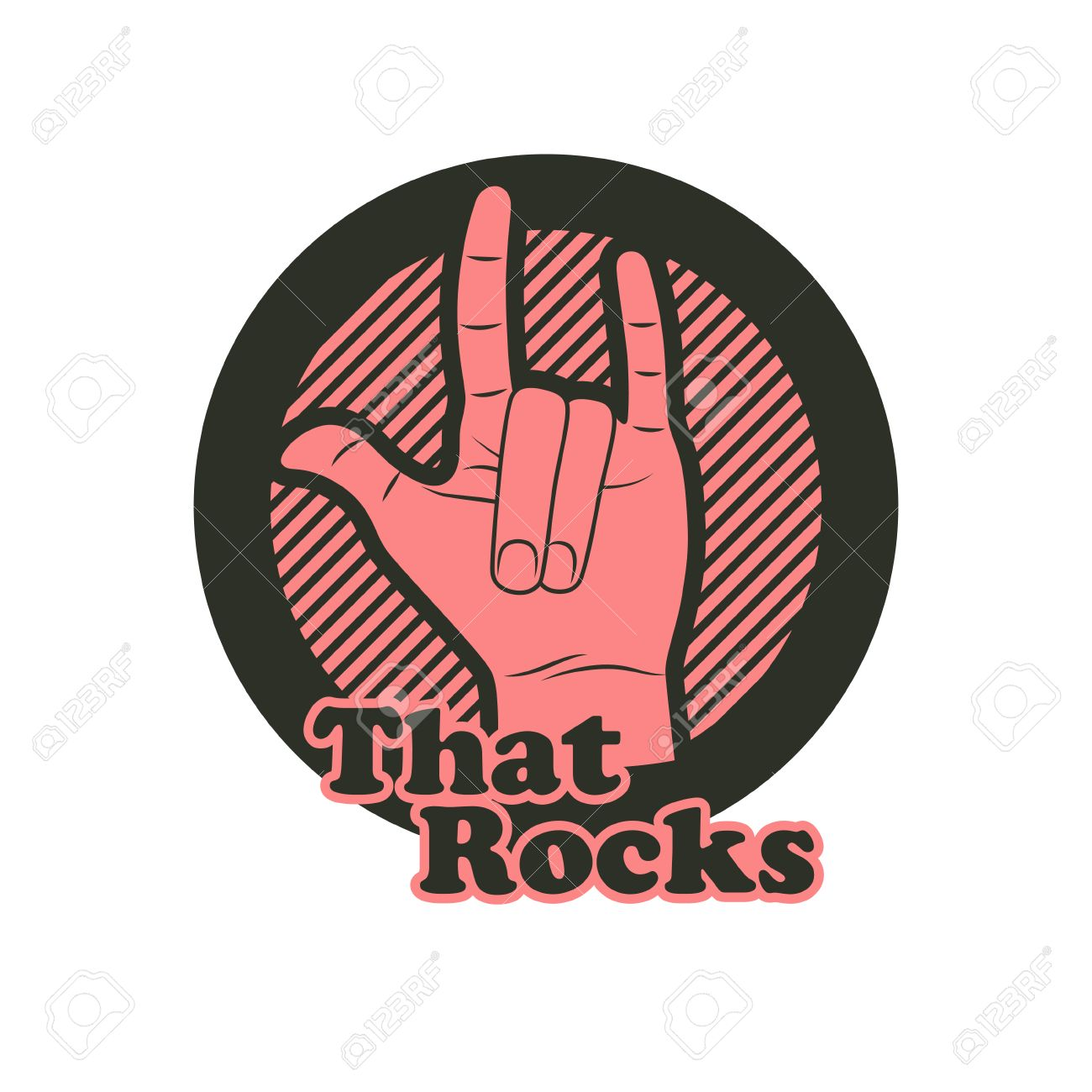 Hand In That Rocks Sign Rock N Roll Symbol Royalty Fri Clipart