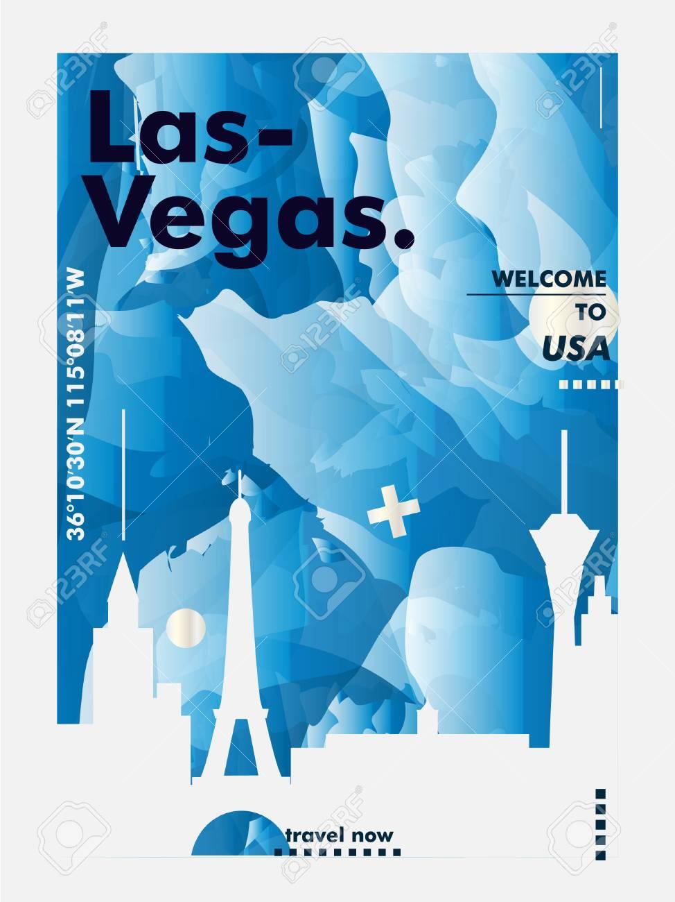 Modern USA United States of America Las Vegas skyline abstract..