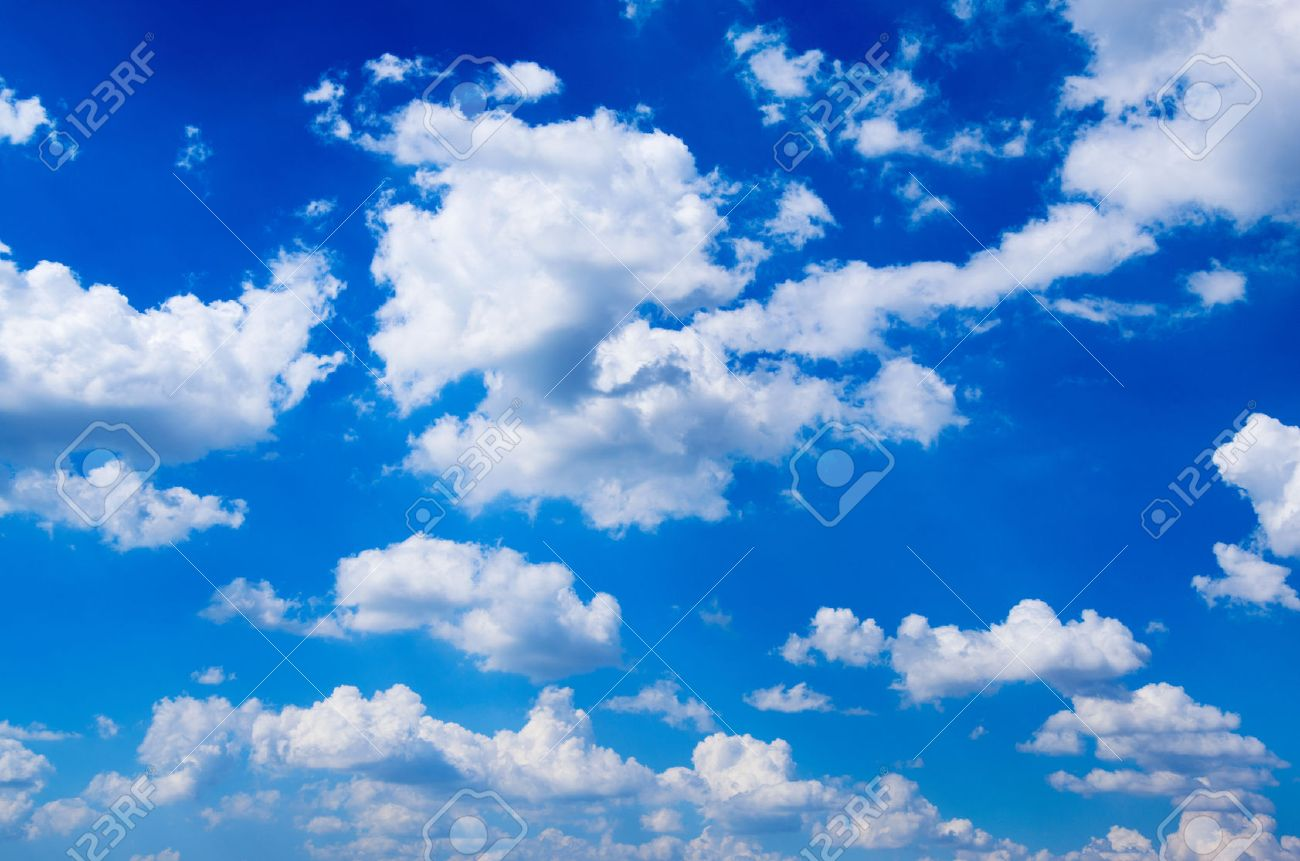 blue sky background with white clouds stock photo picture and