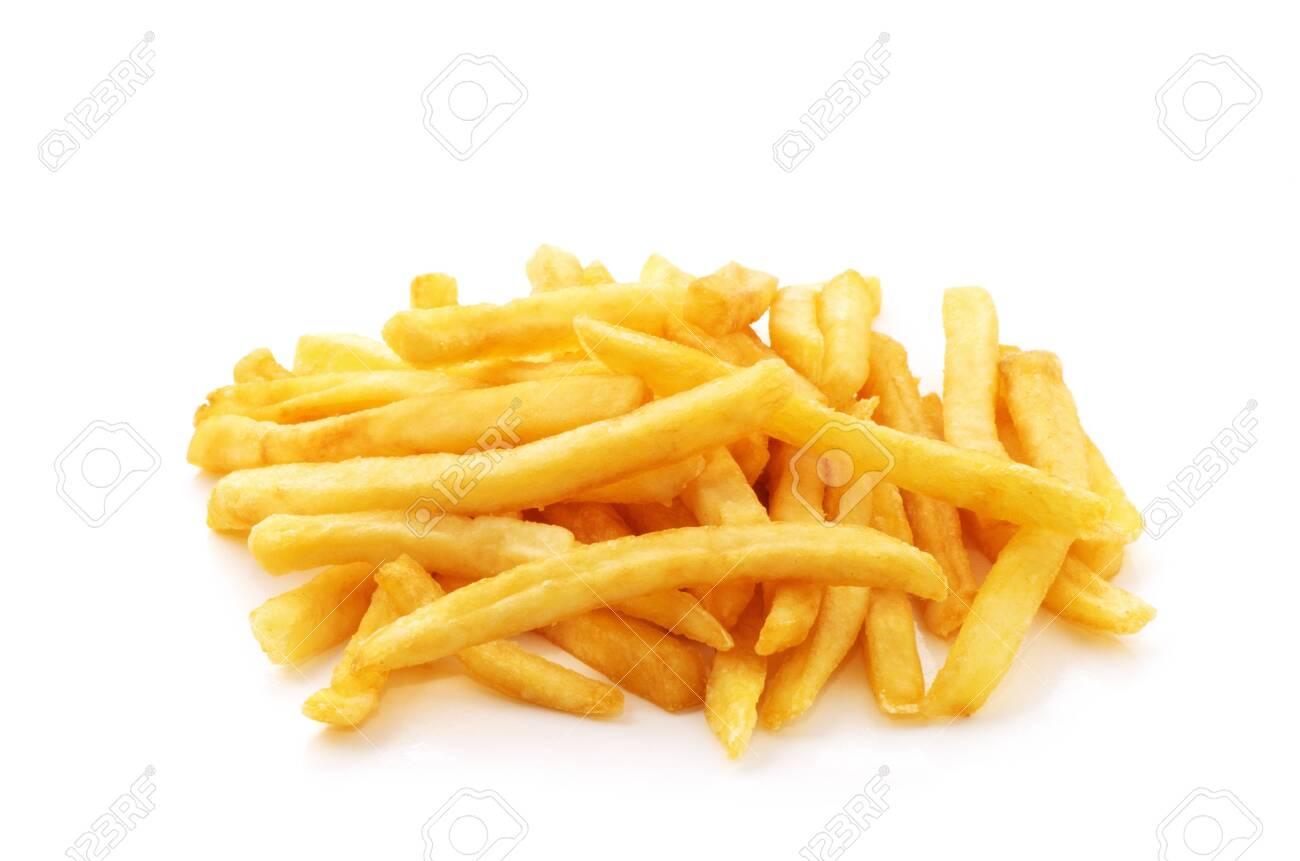 potato fry on white isolated background - 120551693