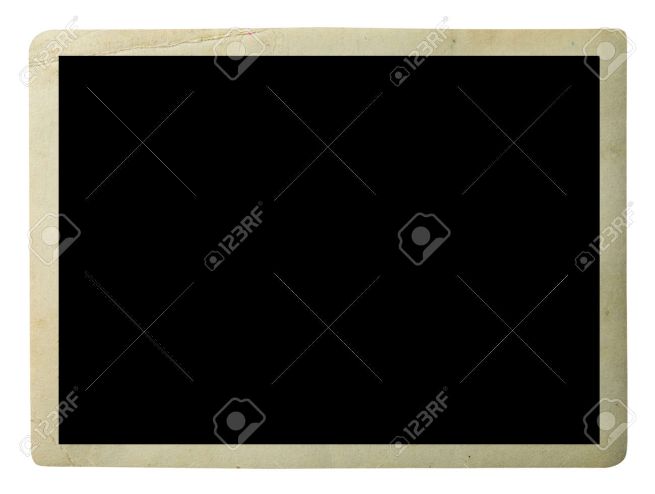 Blank old photo isolated on white - 134422299