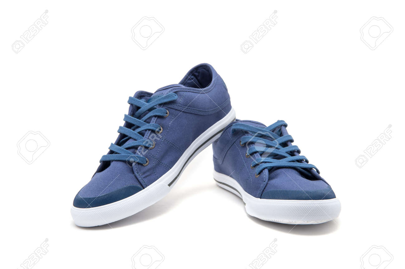 Pair of new sneakers isolated on white background. - 155791560