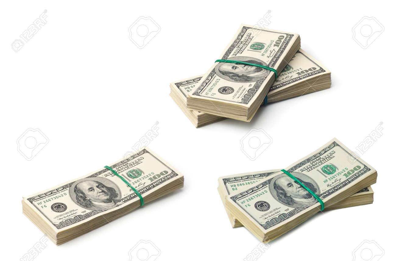 American dollars on white background - 168124435