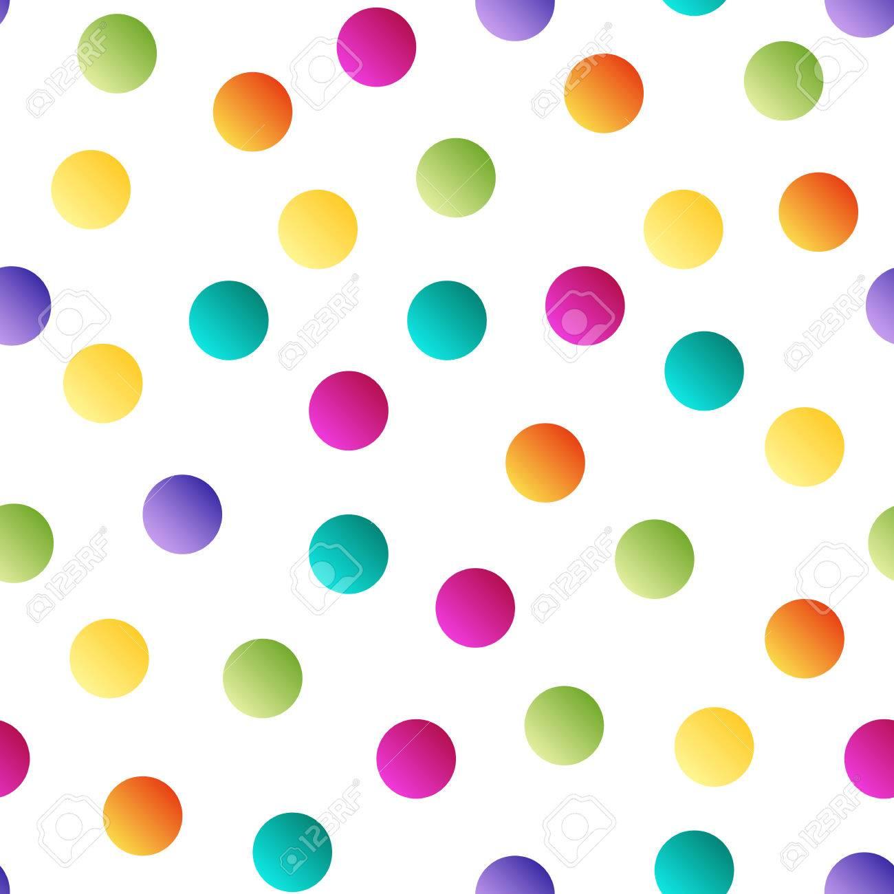 colorful bright polka dot seamless pattern on white background rh 123rf com black polka dot background clipart black polka dot background clipart