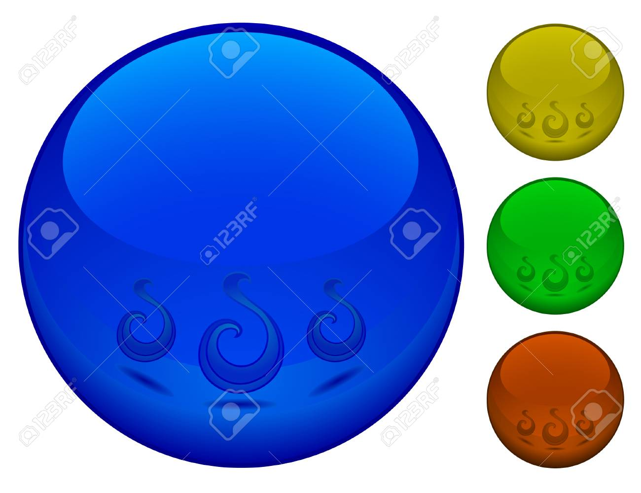 3d spheres, isolated on white Stock Vector - 3952154