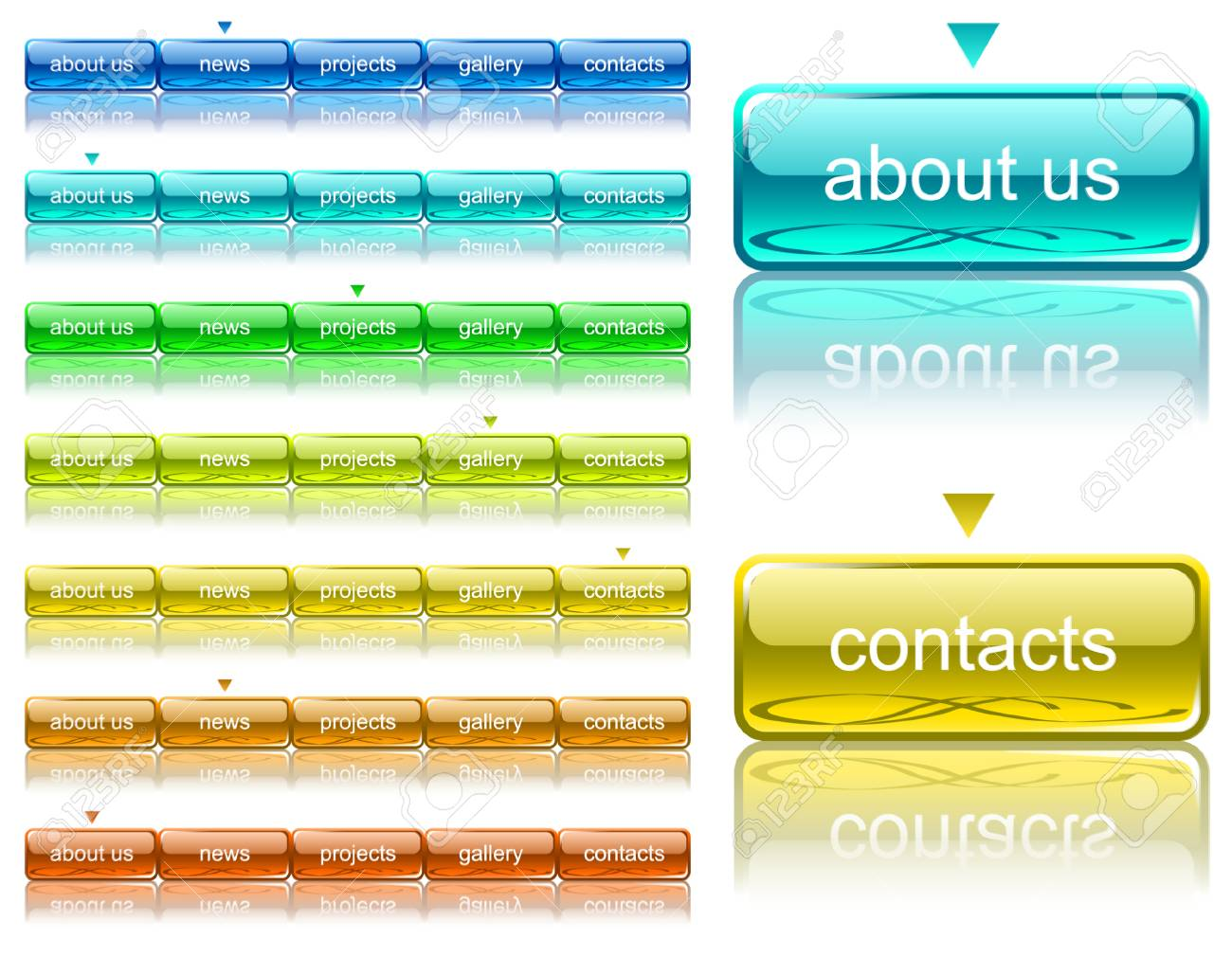Web navigation template2 Stock Vector - 4580133