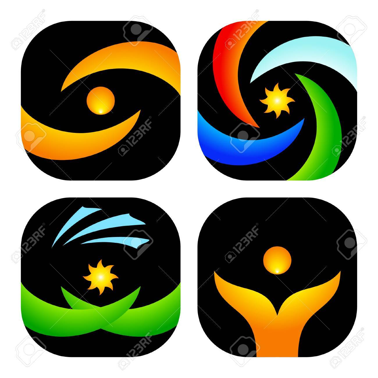 Abstract icons or logos Stock Vector - 5344708