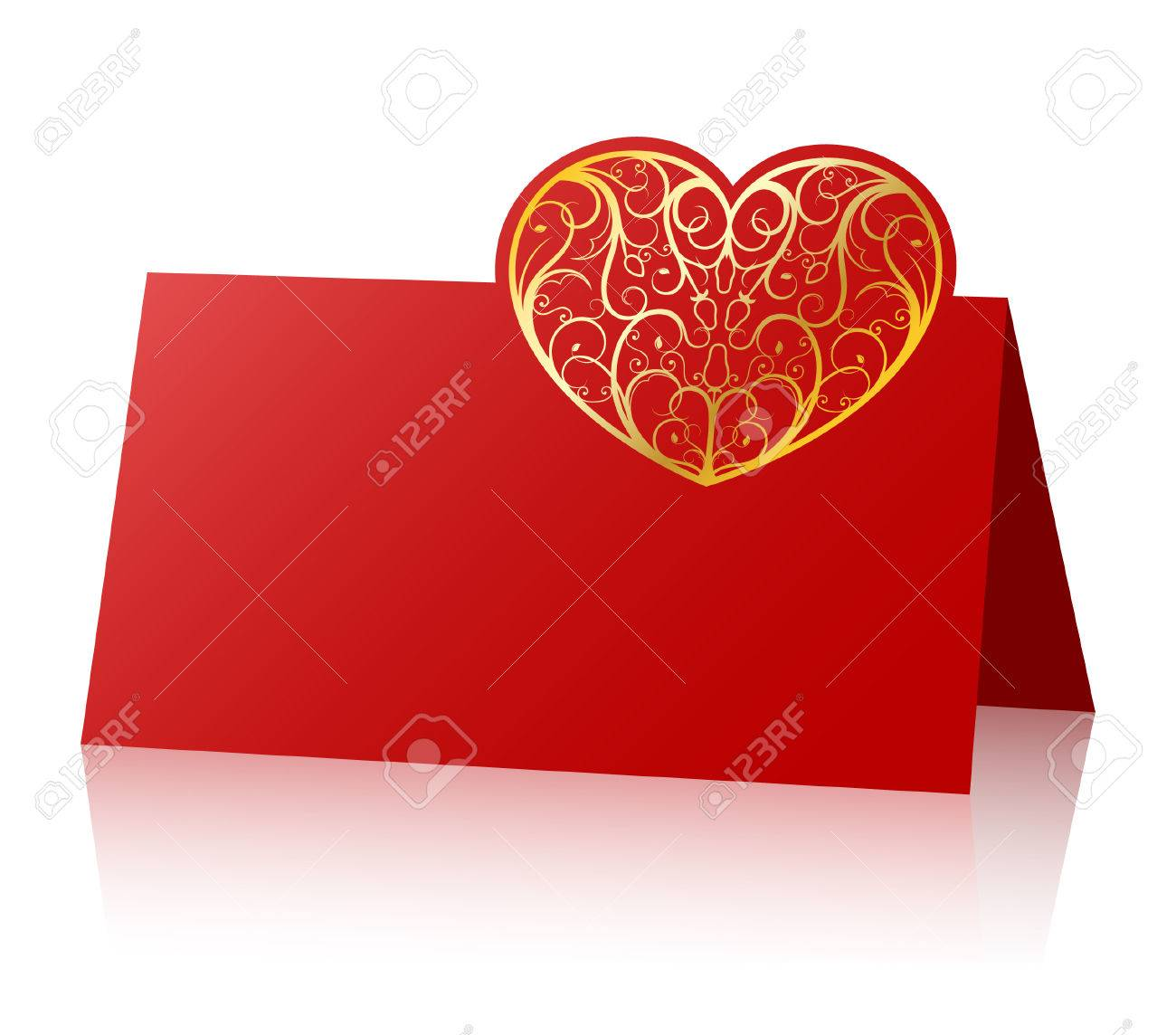 Card with ornate heart Stock Vector - 6846173