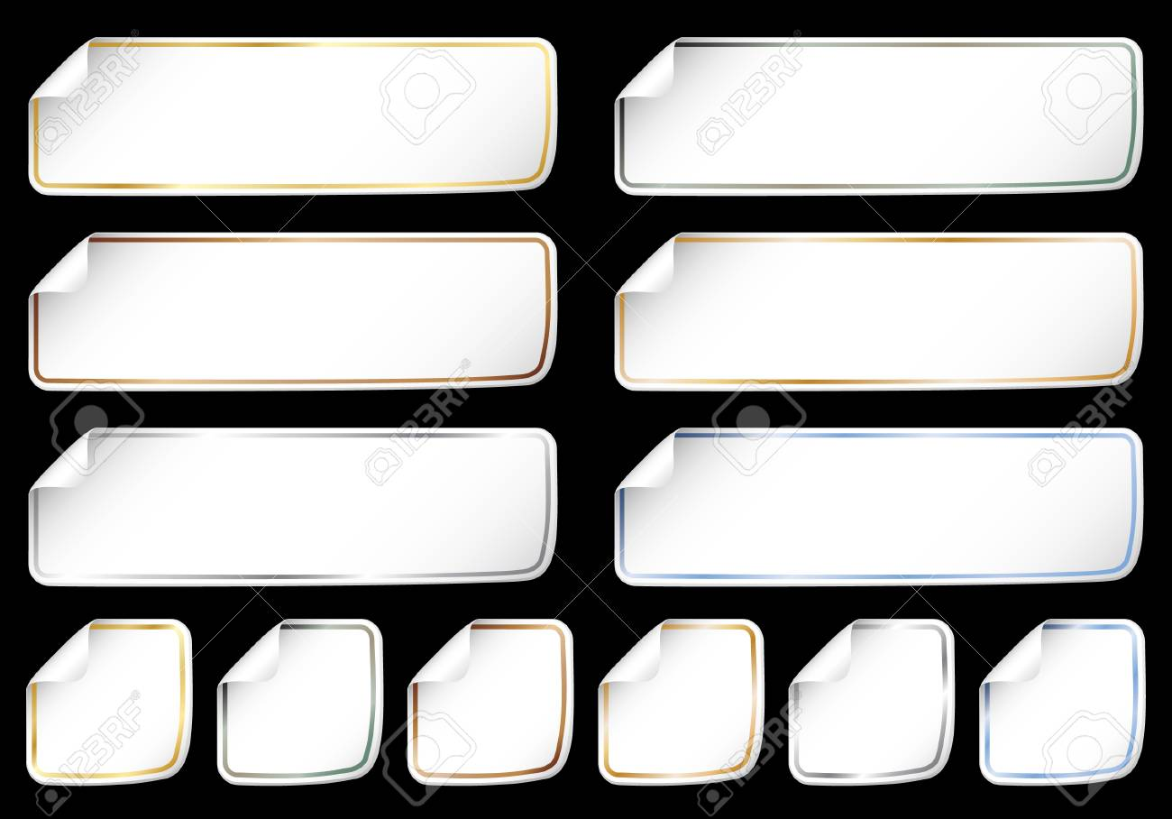 Paper stickers on black Stock Vector - 7154506