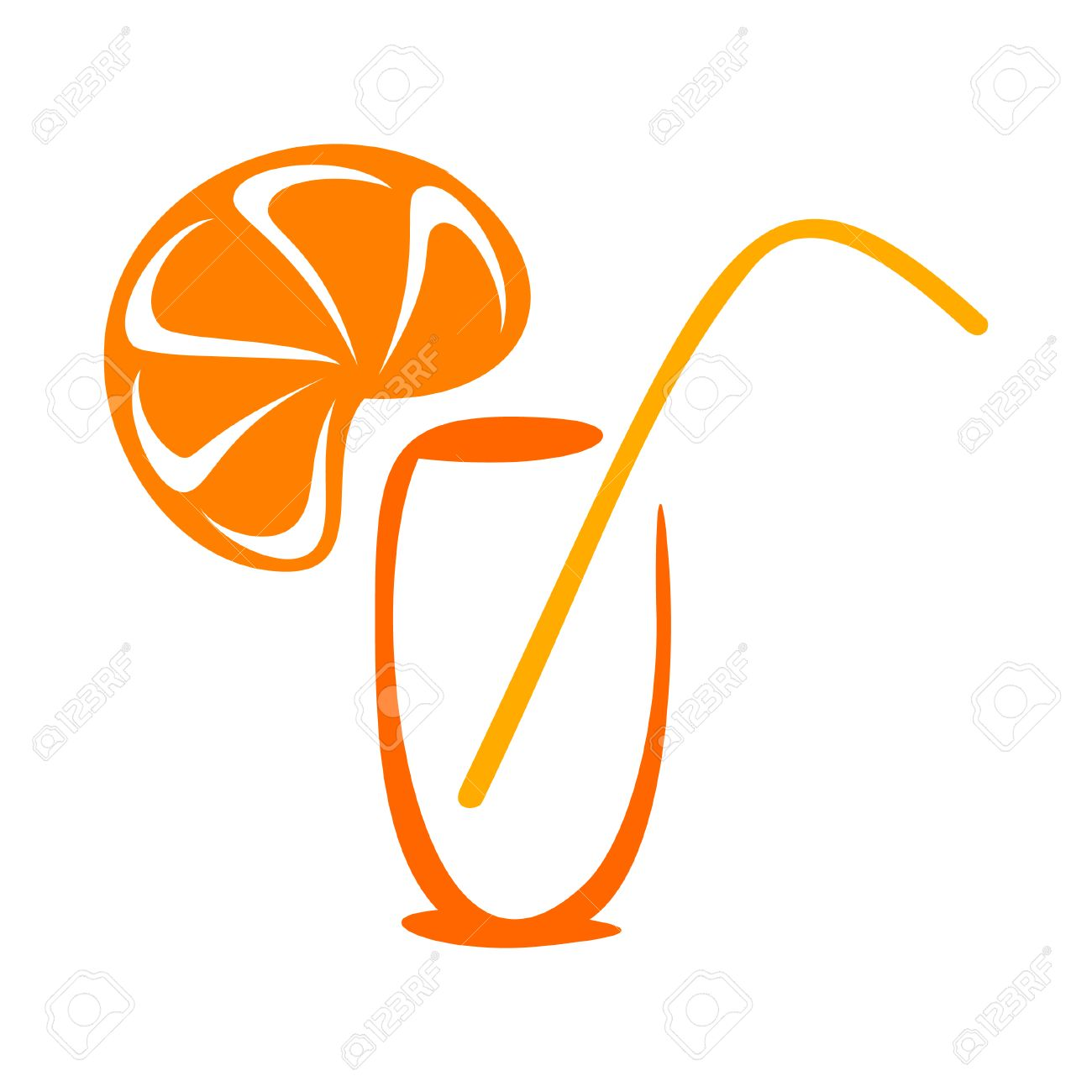 Stylized juice icon Stock Vector - 8195635
