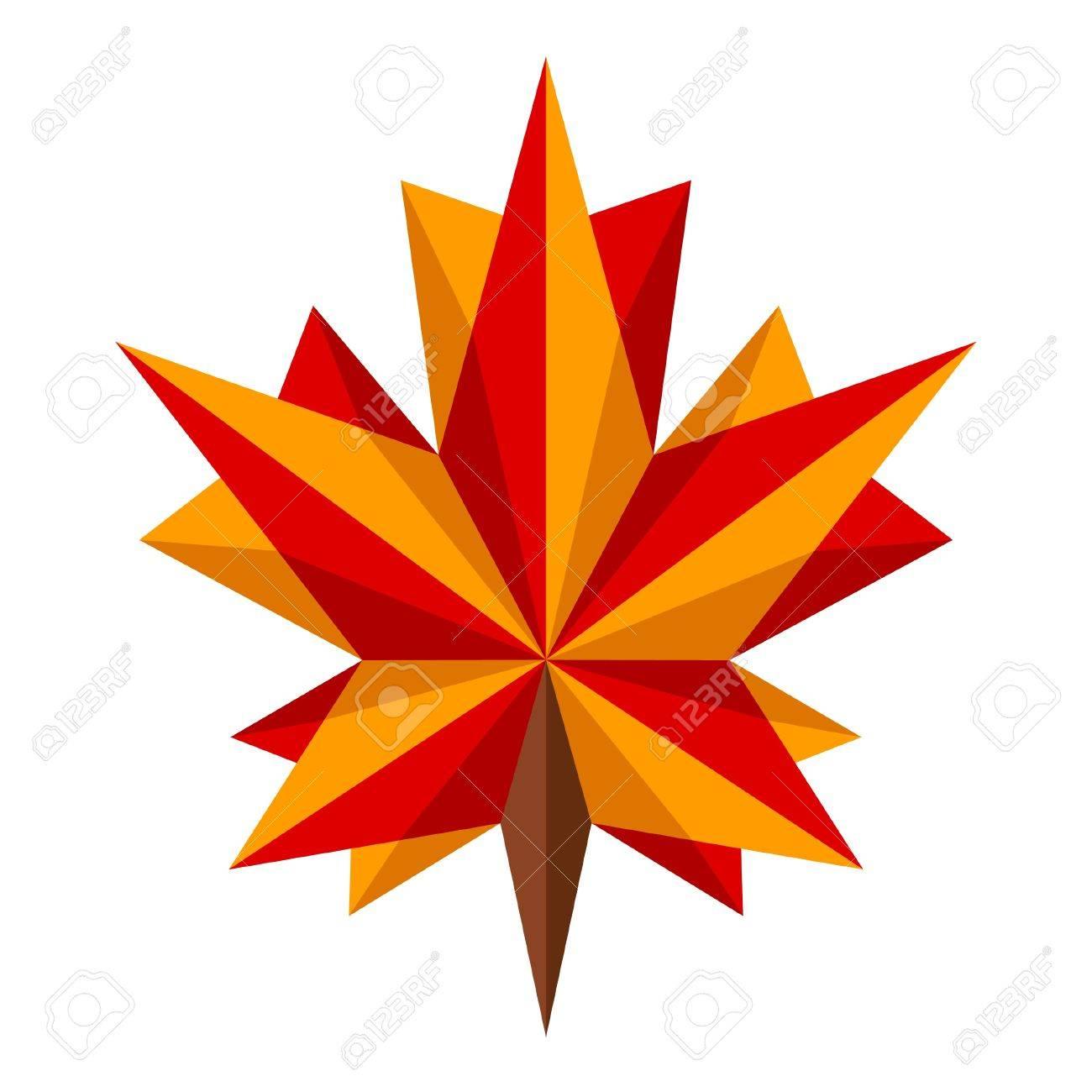 Origami Feuille Dérable Clip Art Libres De Droits Vecteurs Et