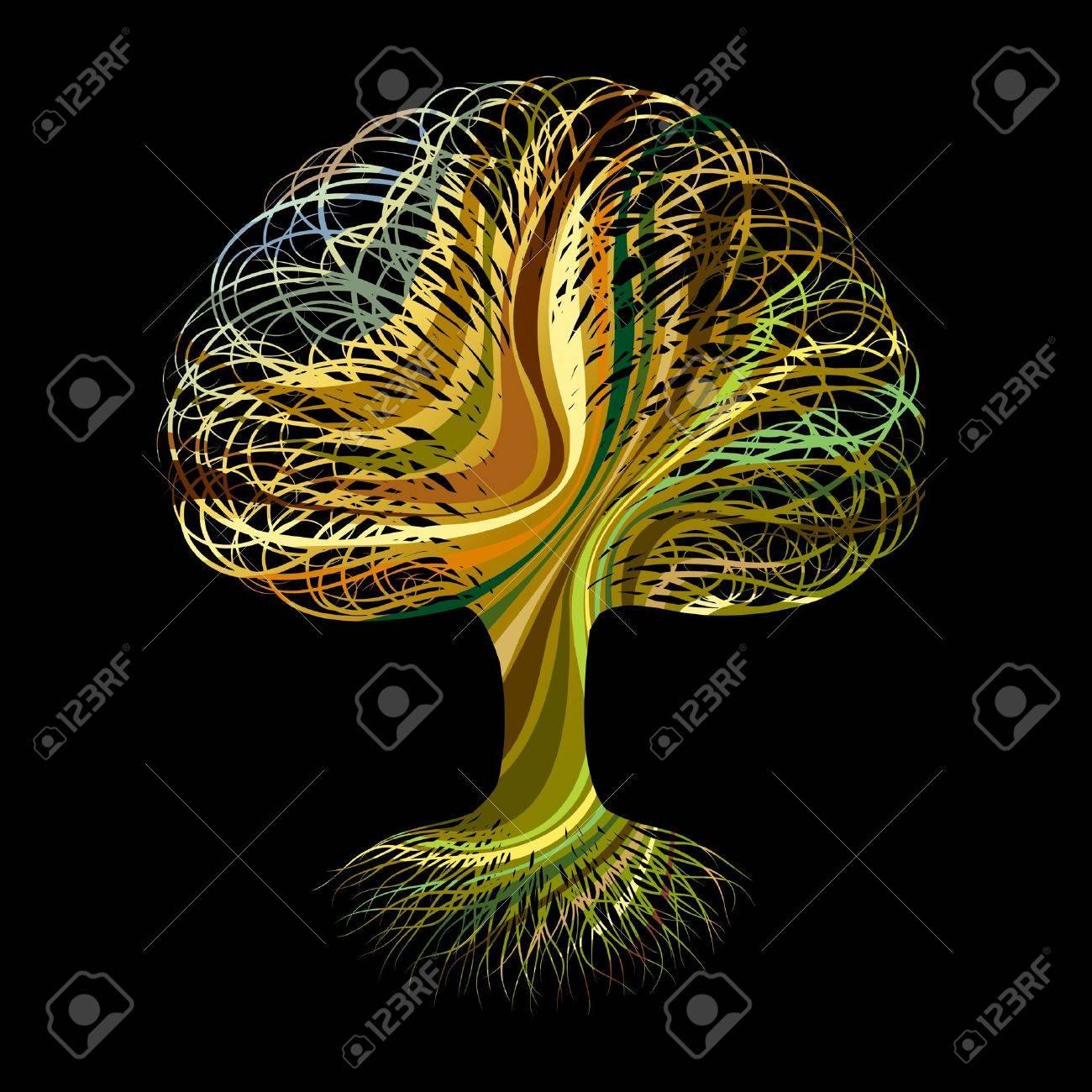 Multicolour abstract tree 2 Stock Vector - 11009043