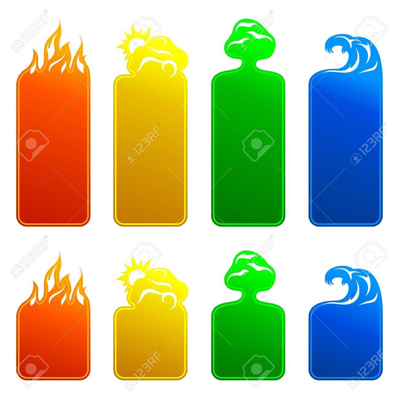 Banners 4 elements Stock Vector - 11218102
