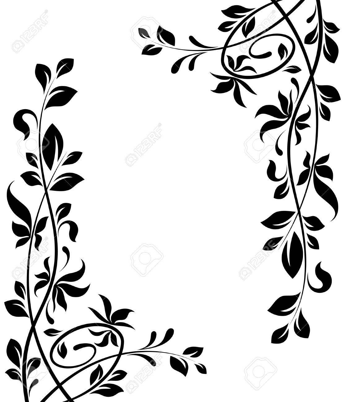 Captivating Floral Corner: Floral Decorations Illustration