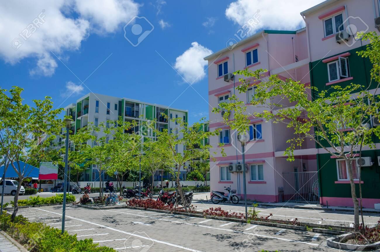 City Of Hulhumale On The Island Of Maldives