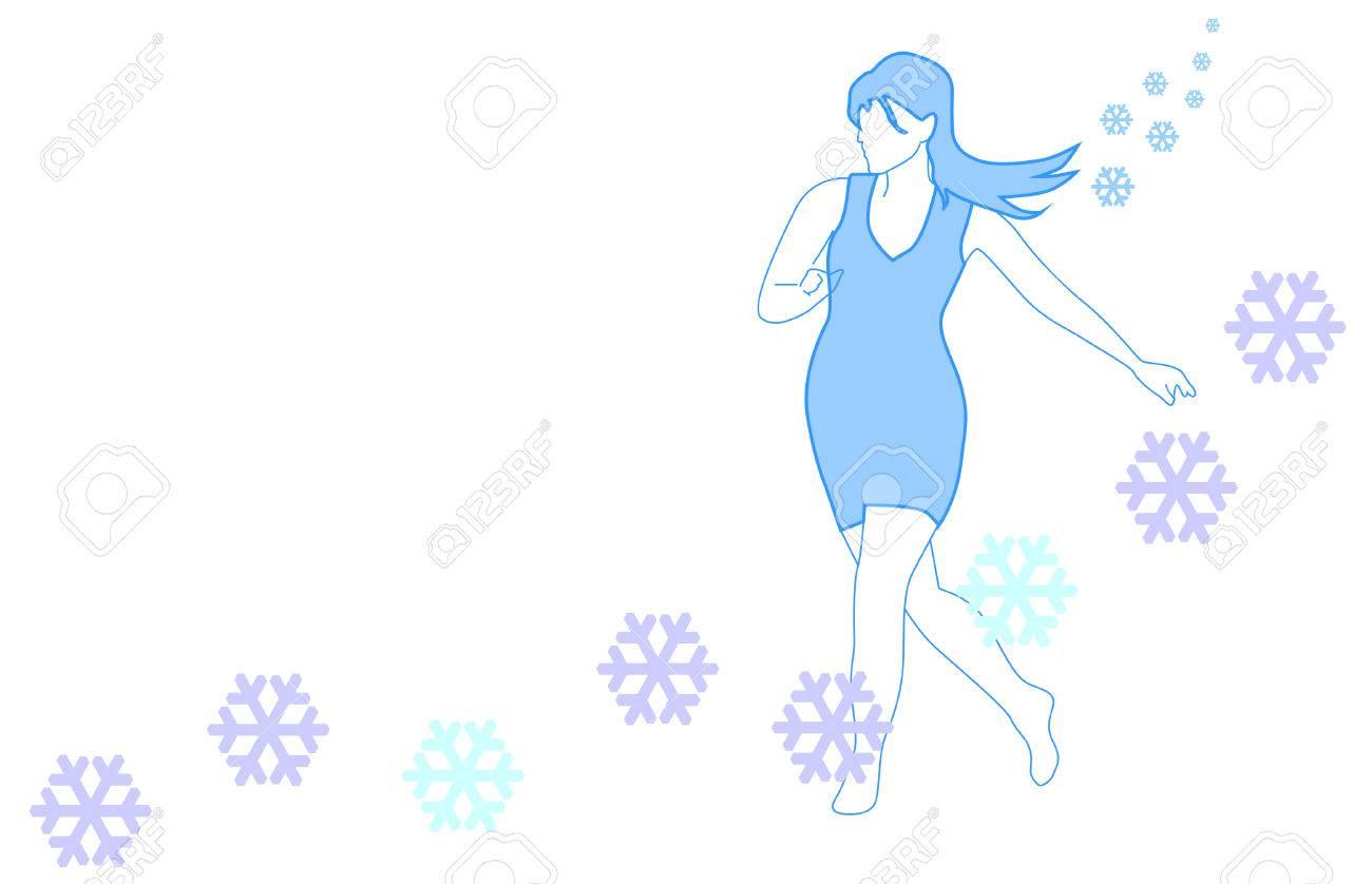 Winter girl Stock Vector - 7964549
