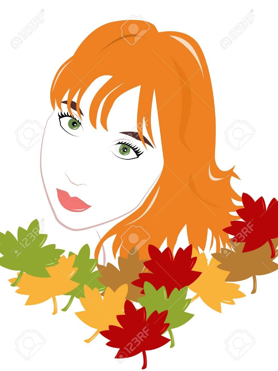Beautiful girl autumn Stock Photo - 10590322