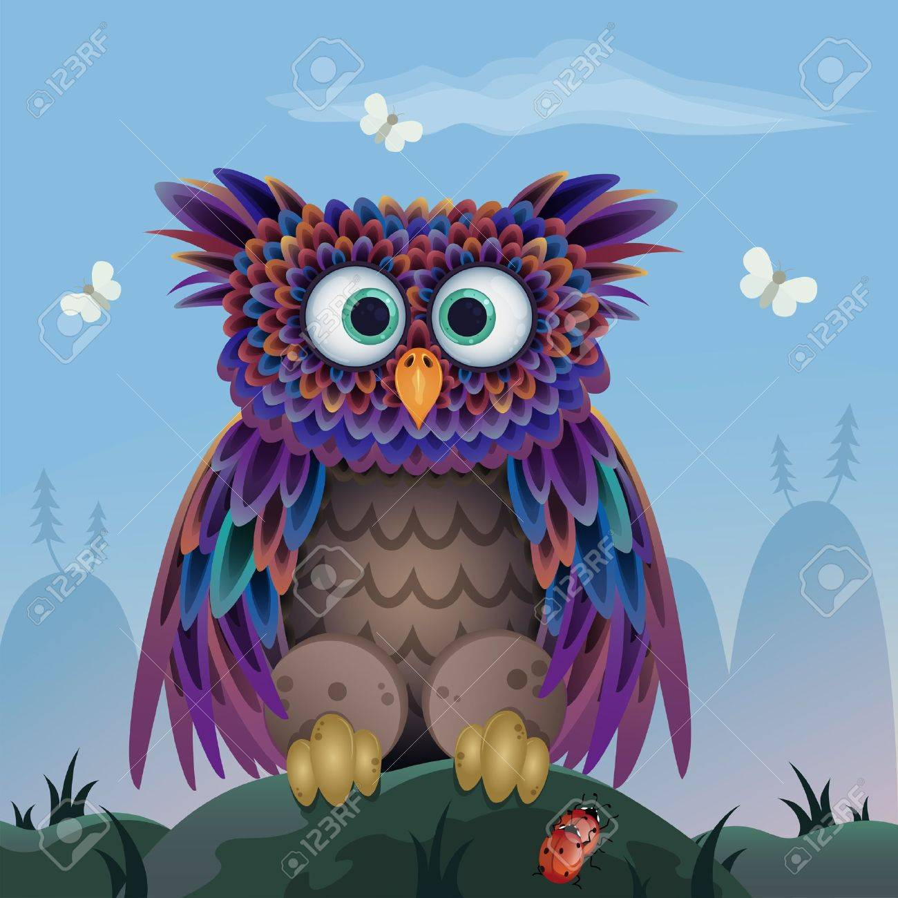 cute owl Standard-Bild - 15604825