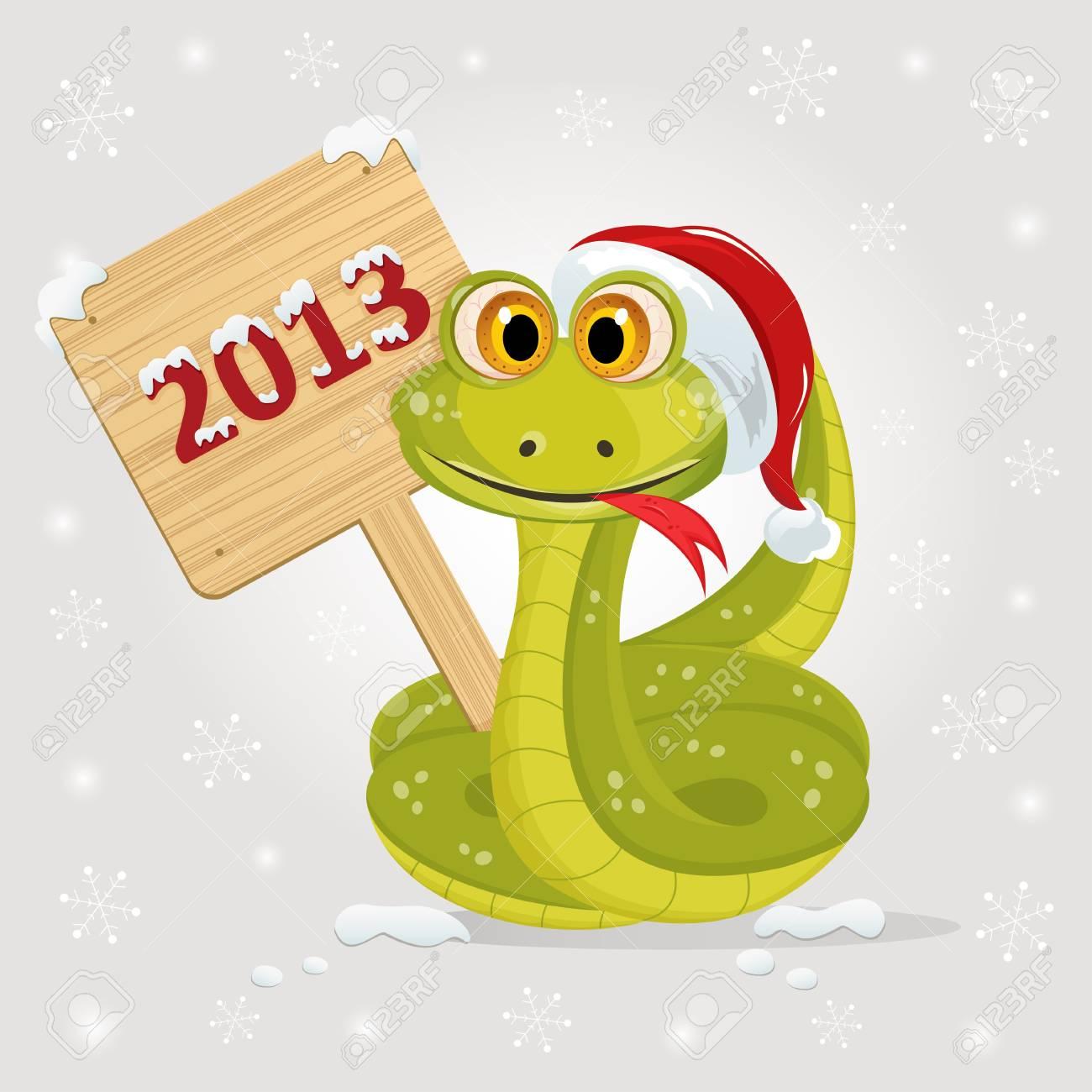 snake symbol of 2013 year Standard-Bild - 16270819
