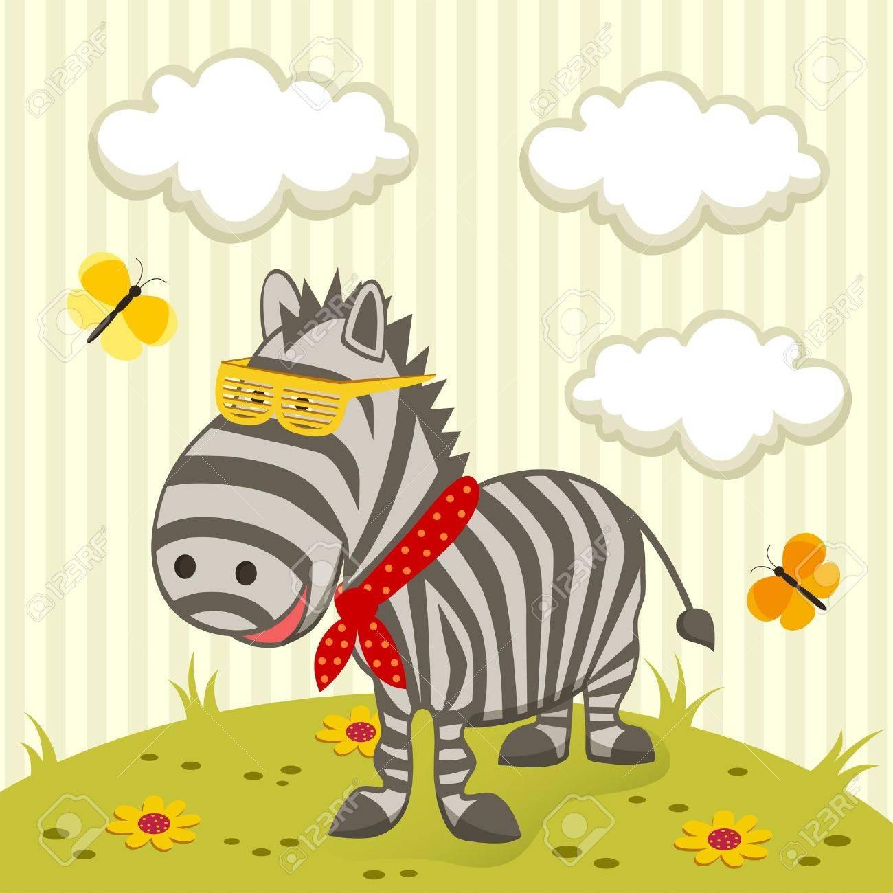 zebra illustration Stock Vector - 17836814