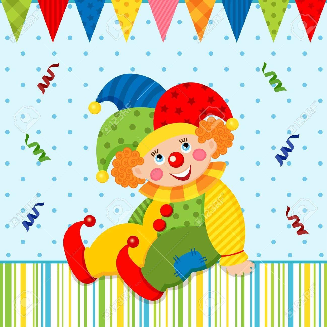 Clown Joker Standard-Bild - 18023467