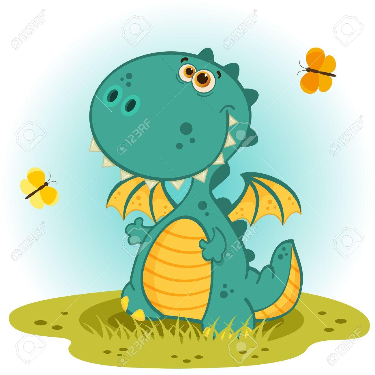 cute dragon vector Standard-Bild - 19088142