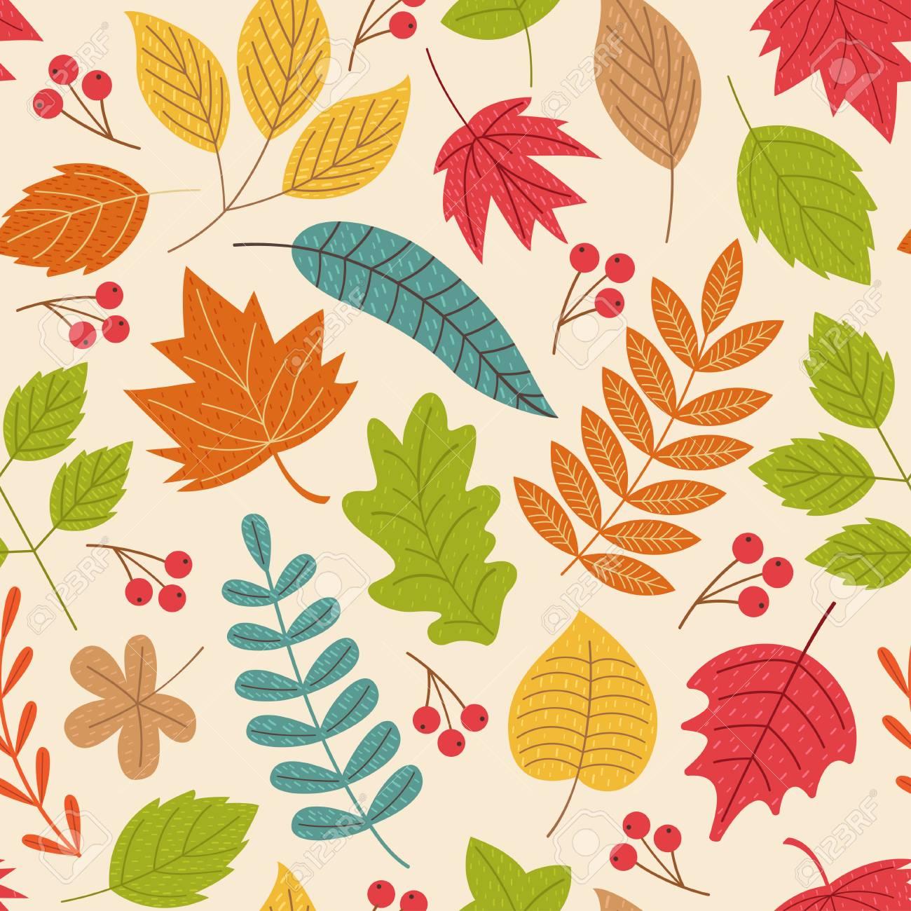 秋模様の葉 イラストepsのイラスト素材ベクタ Image 86911231