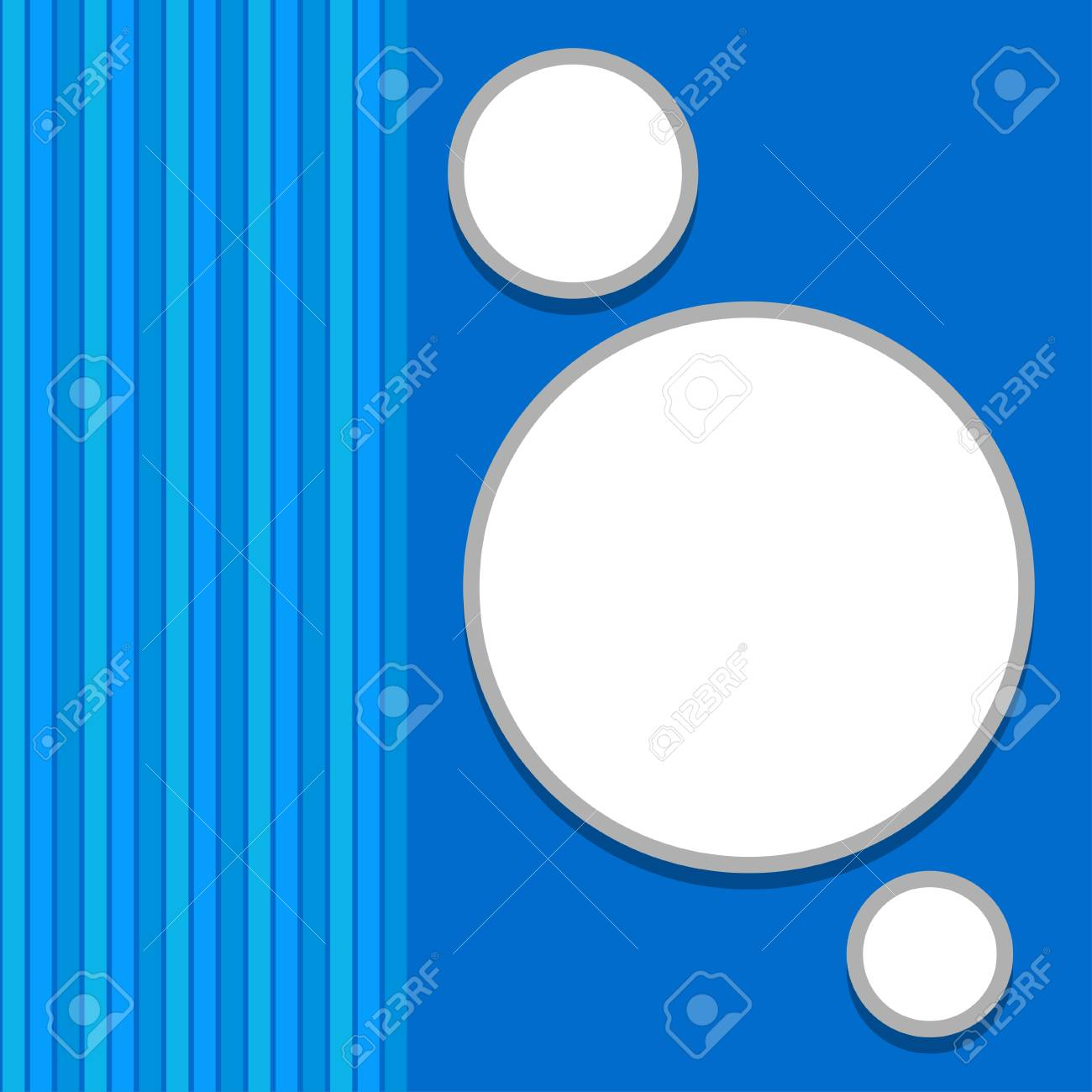 Abstract background with blue waves and white bubbles Stock Vector - 18257023