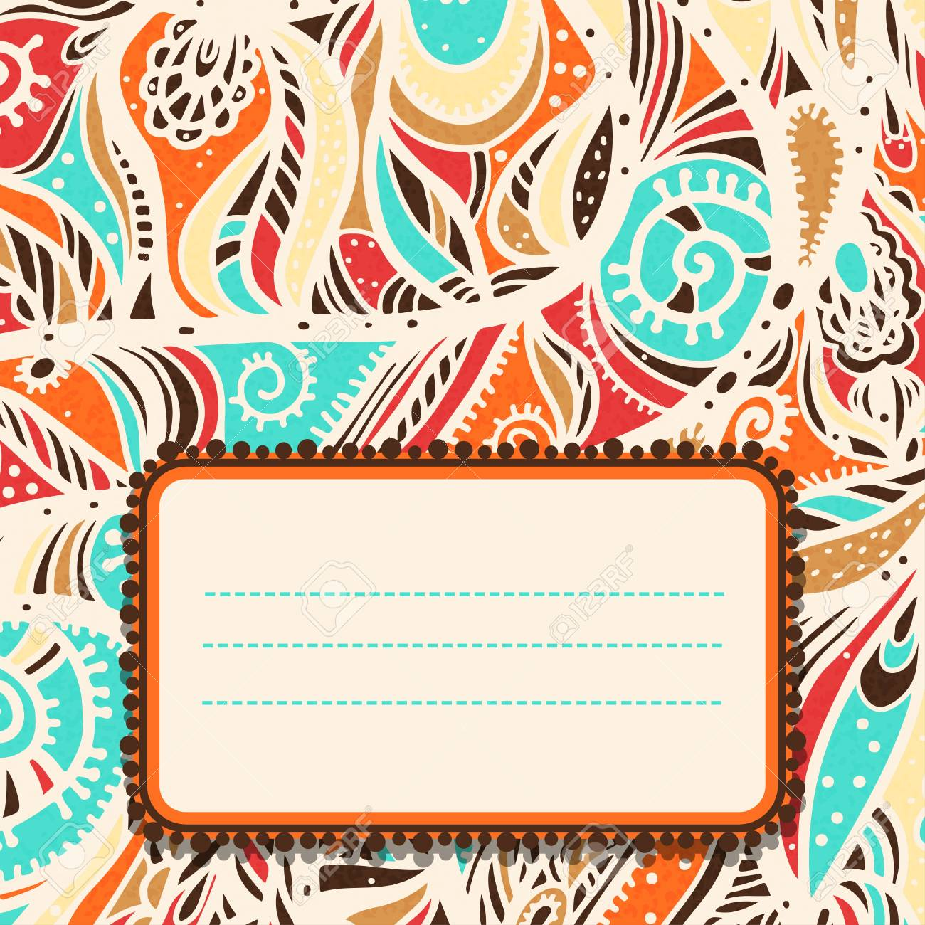 Abstract colorful background with space for text - vector Stock Vector - 19035575
