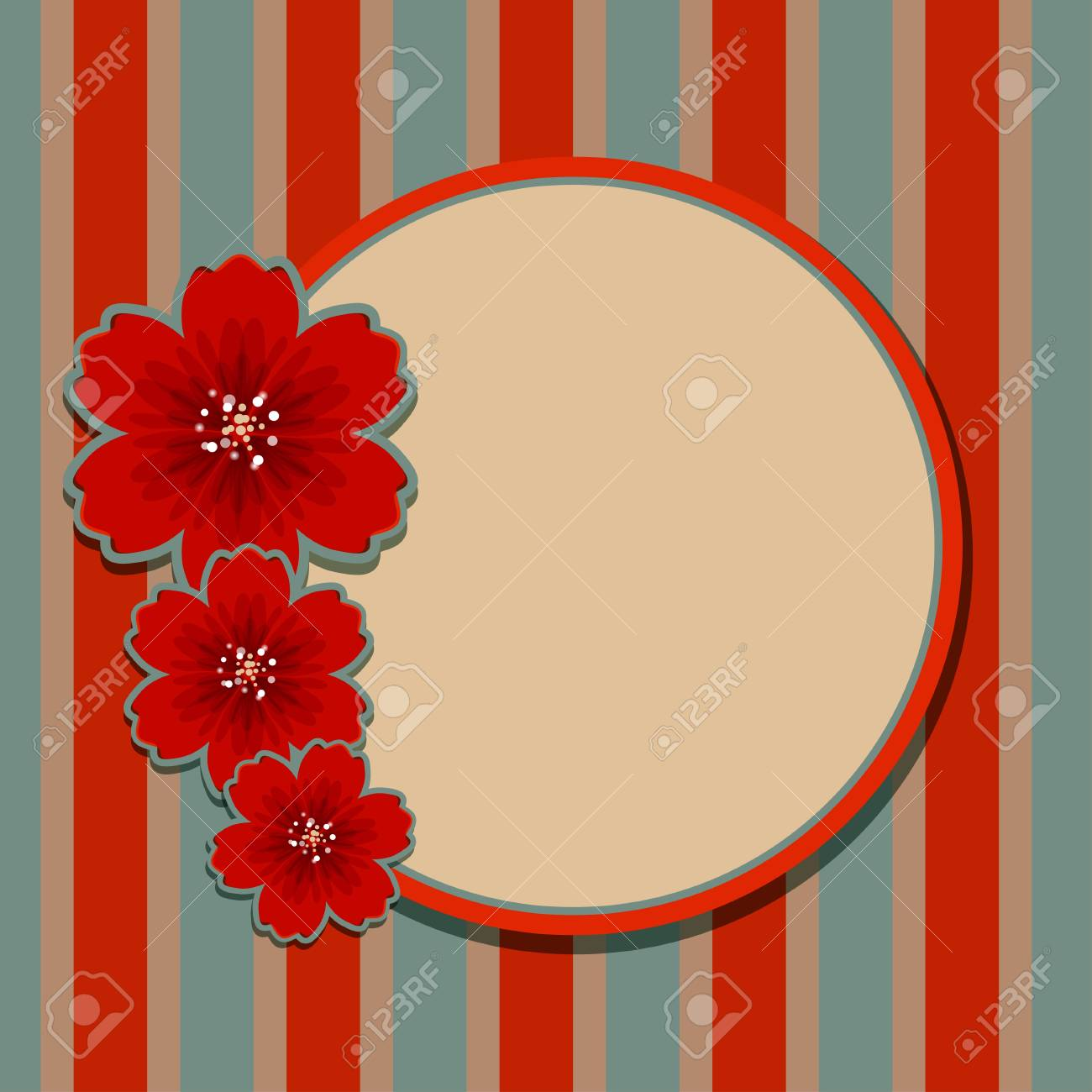 Floral background with space for text - vector Stock Vector - 19035563