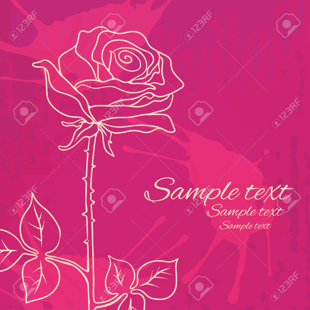 Vintage floral background with roses Stock Vector - 19317352