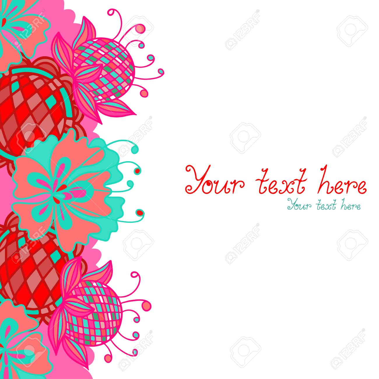 Floral background with space for text - vector Stock Vector - 19830713