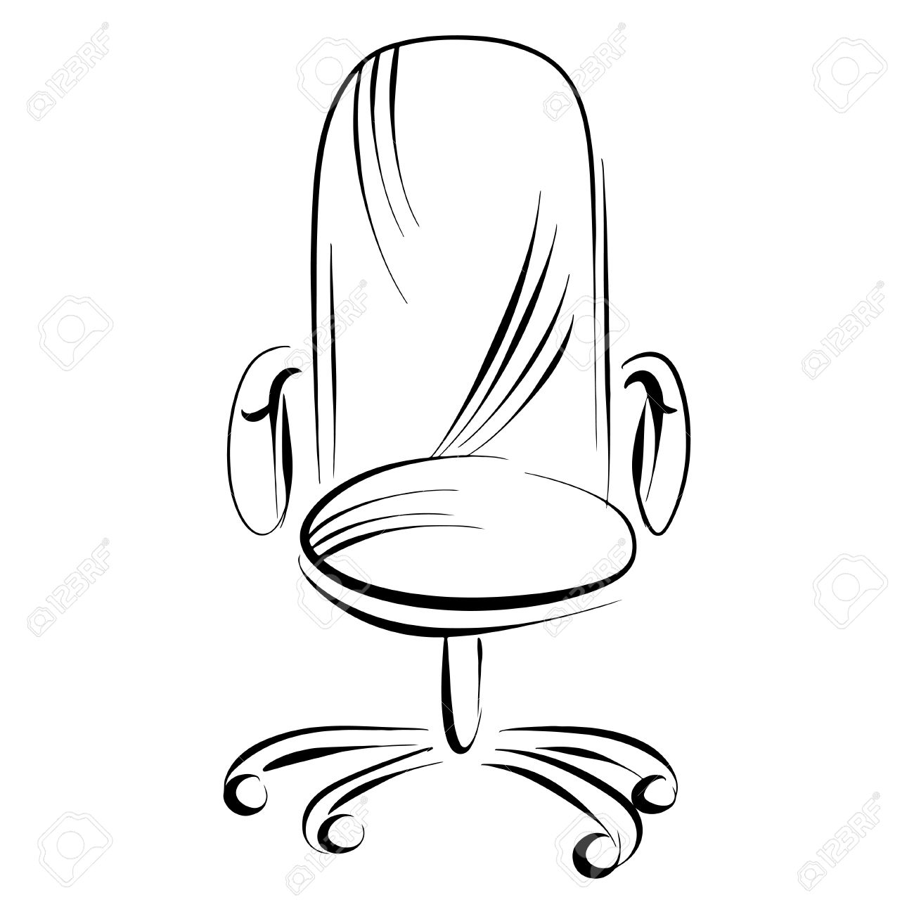 Office chair sketch - vector Stock Vector - 19830819