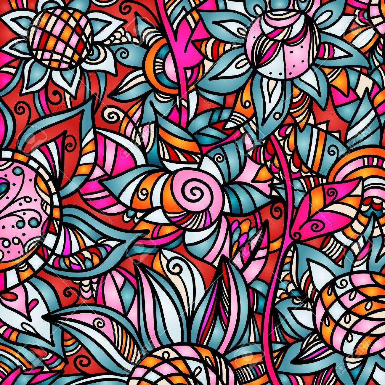 Colorful abstract florals background Stock Vector - 20014227