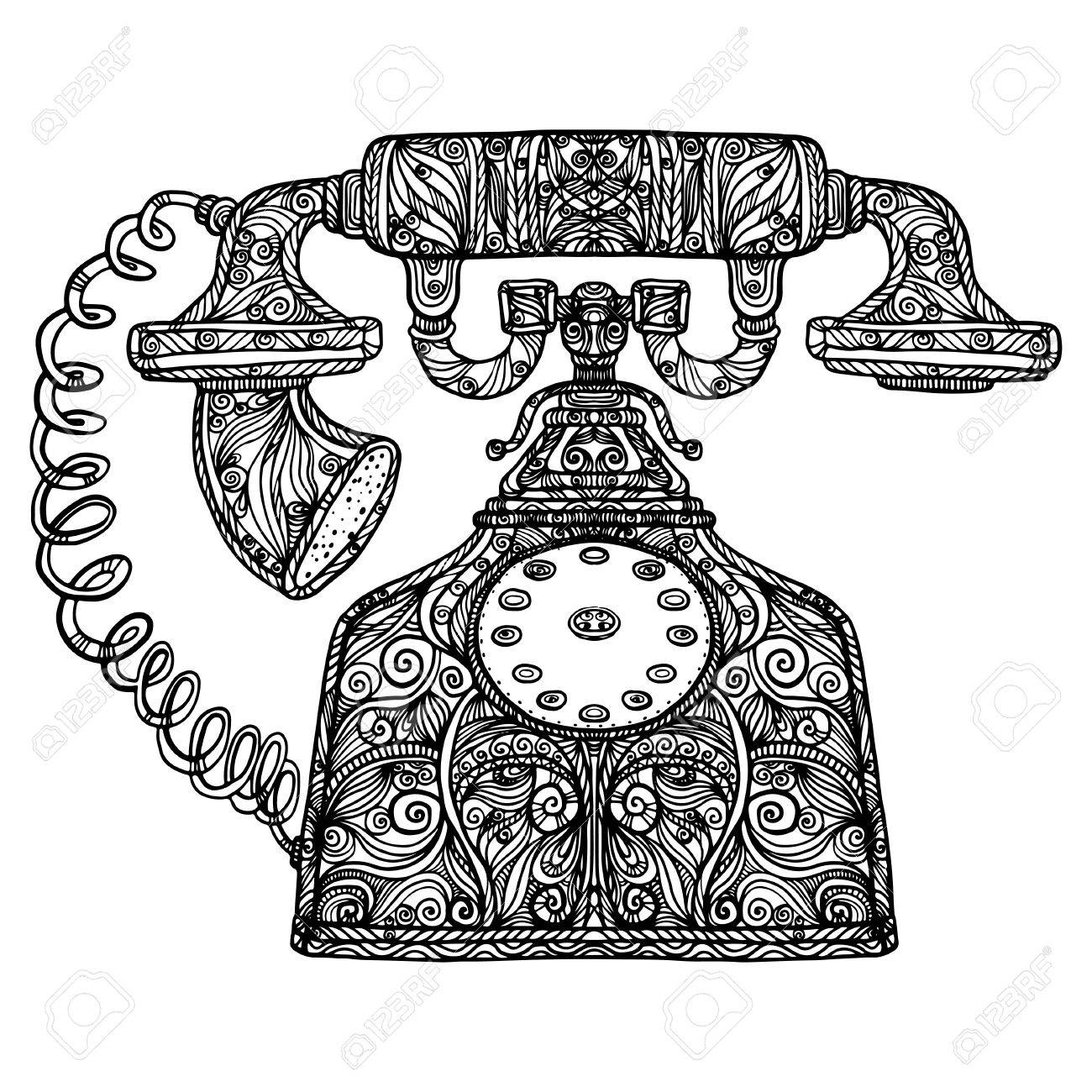 Vintage Phone Icon Royalty Free Cliparts Vectors And Stock