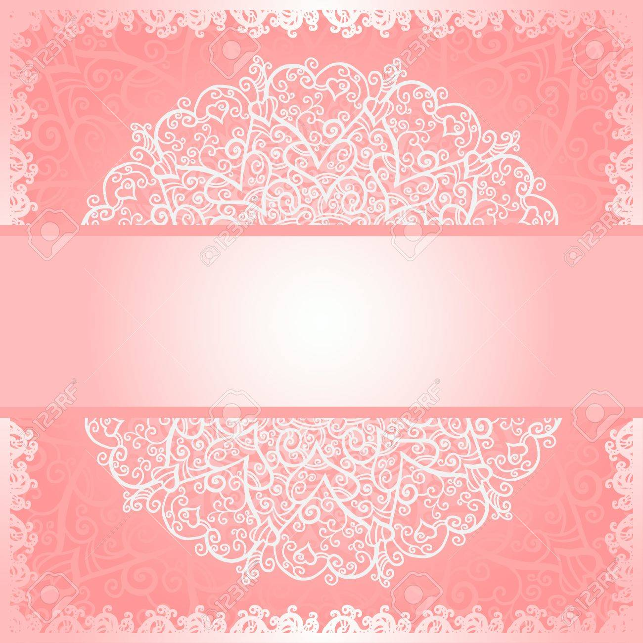 Pink floral lace background with space for text - vector Stock Vector - 20600318