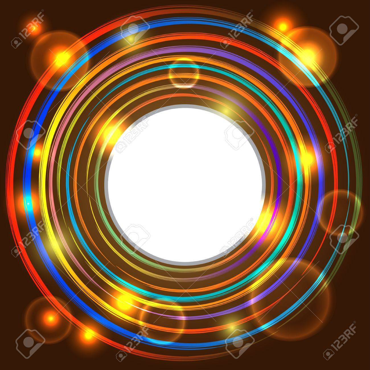 Abstract background with colorful circles and space for text - vector Stock Vector - 20646283