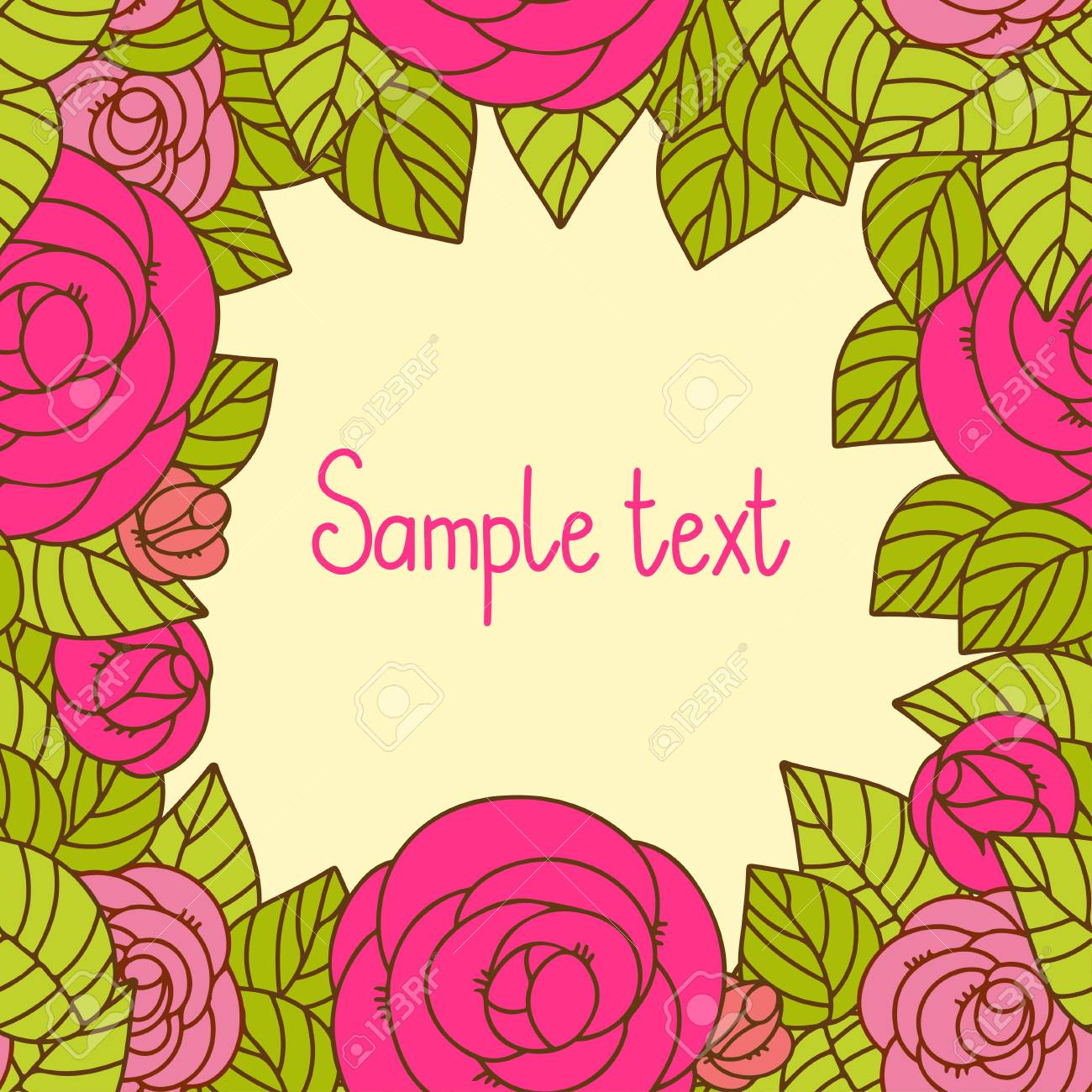 Vintage floral background with space for text Stock Vector - 20705346