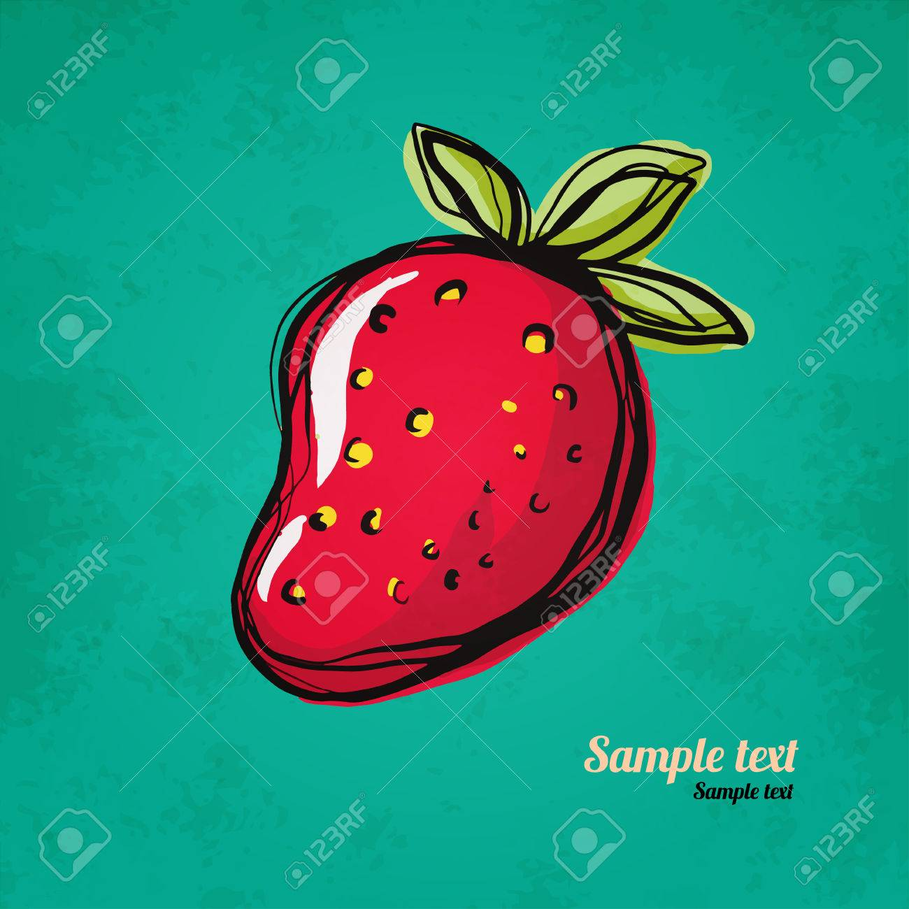Strawberry Isolated Simple Sketch Icon On Grunge Paper Texture Royalty Free Cliparts Vectors And Stock Illustration Image 24013015
