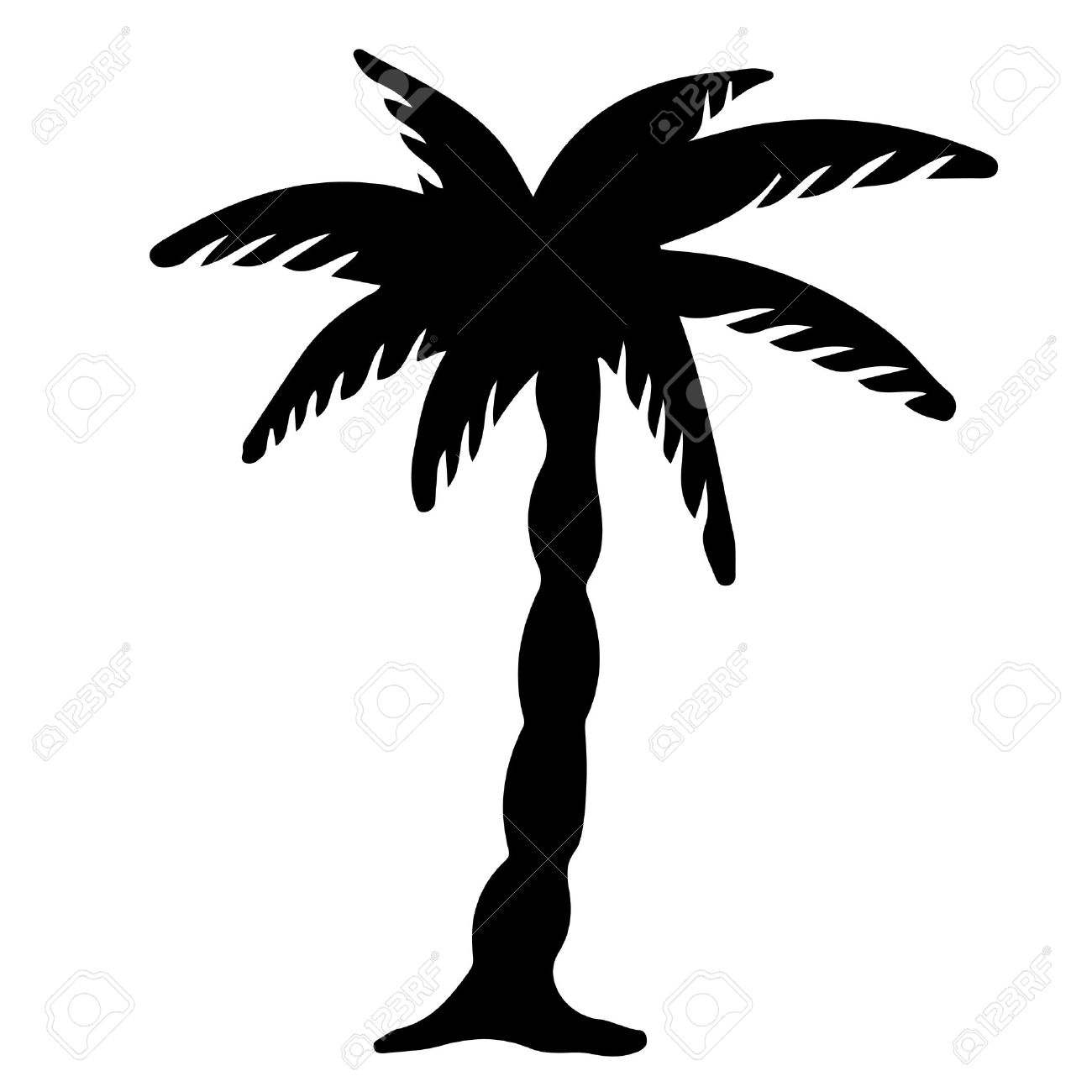 Palm Trees Background Black And White Coconut Palm Tree Black