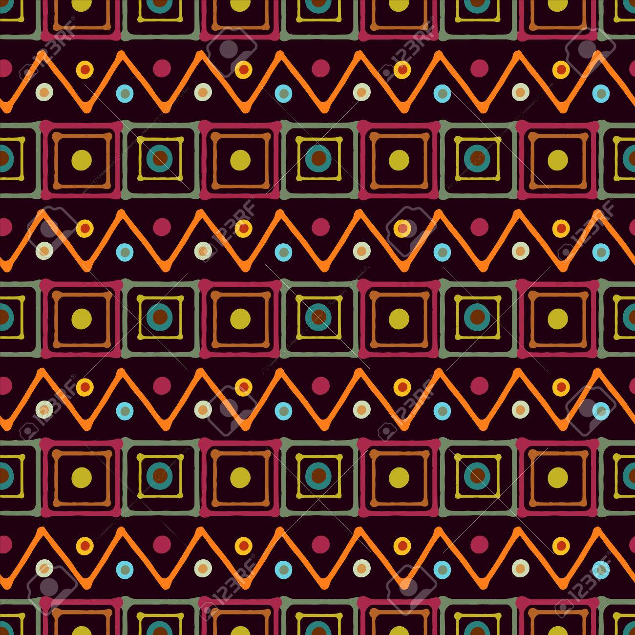 african print wallpaper  Rainbow Abstract Art Seamless Pattern With Squares, Circles ...